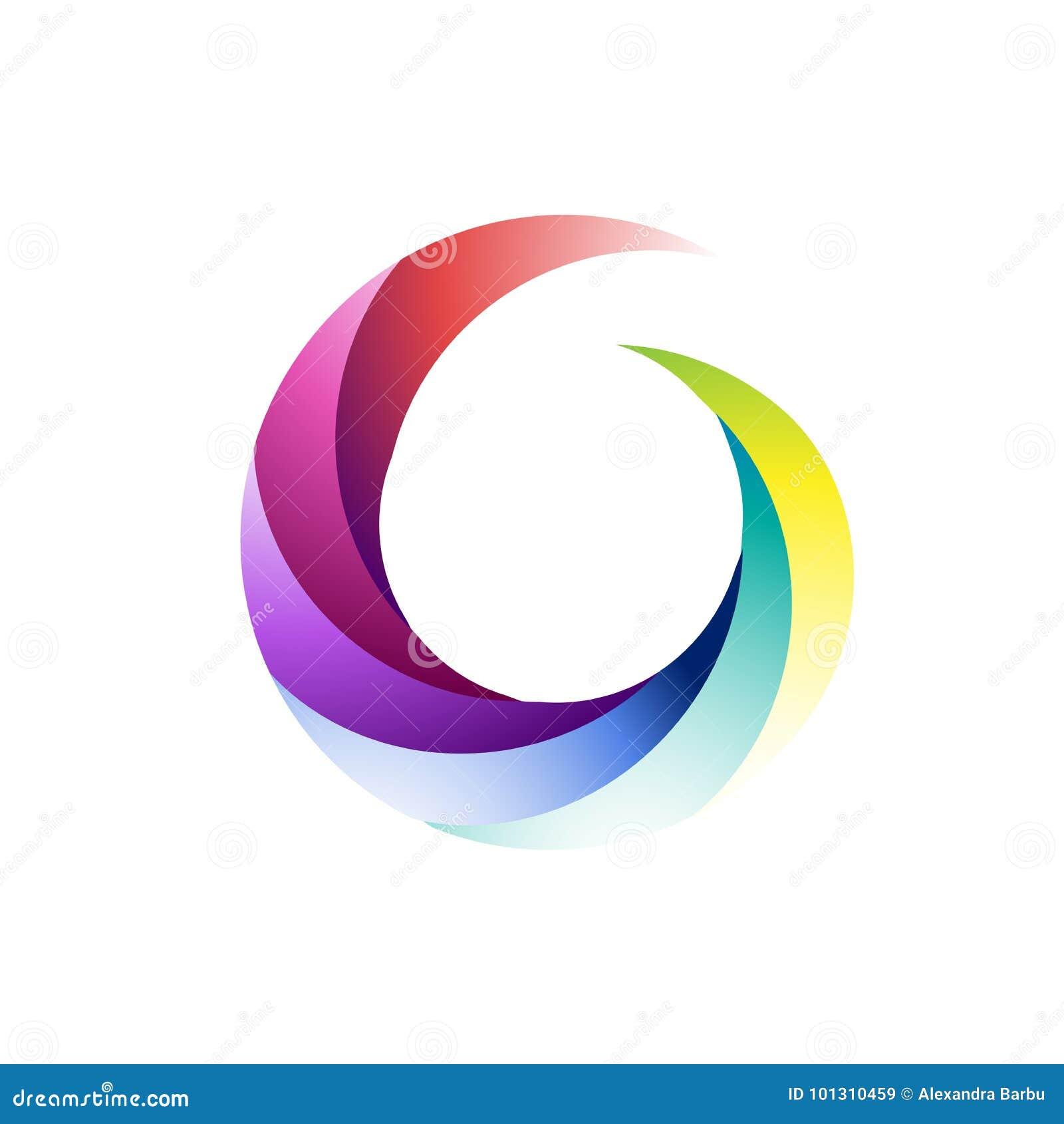 abstract circle spiral logo multicolor sphere stock vector rh dreamstime com free vector download business card free download vector business card design
