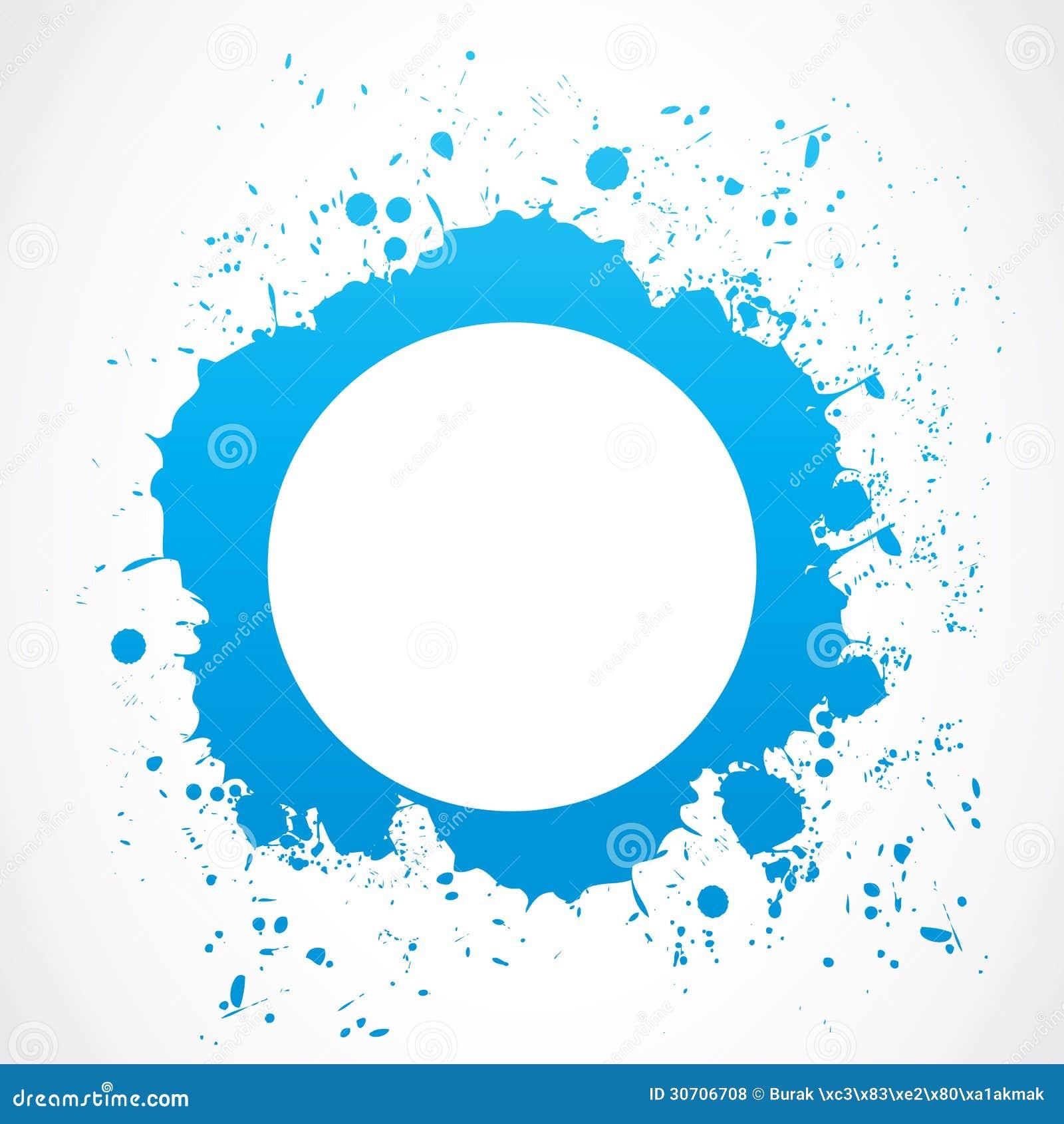 Abstract Circle Splash Border Stock Vector Illustration Of