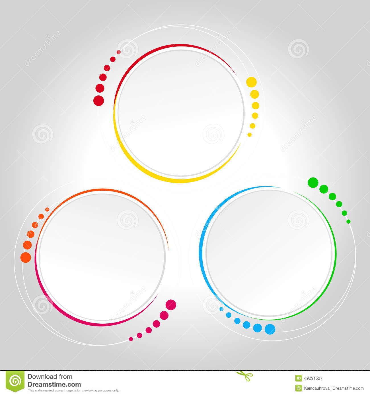 abstract circle template infographics stock illustration
