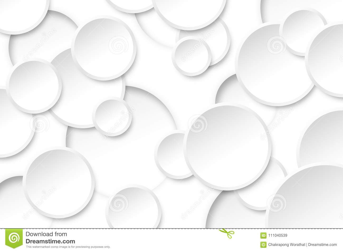 Abstract Circle White Color On Background Texture Stock