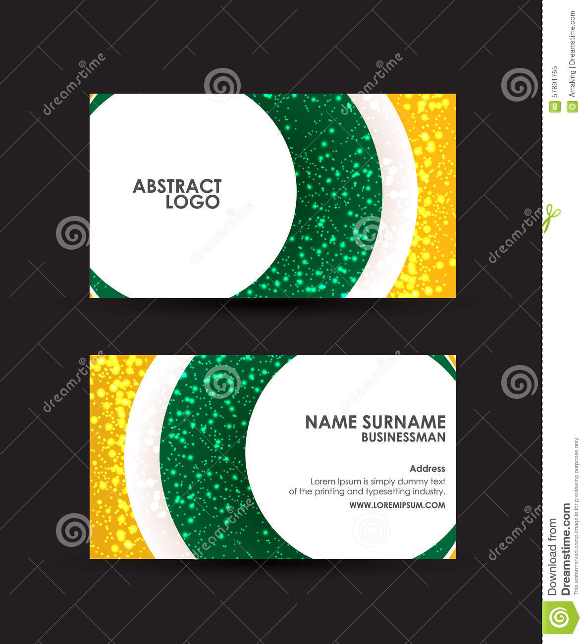 download abstract circles business card vector design template stock vector illustration of background - Circle Business Card Template