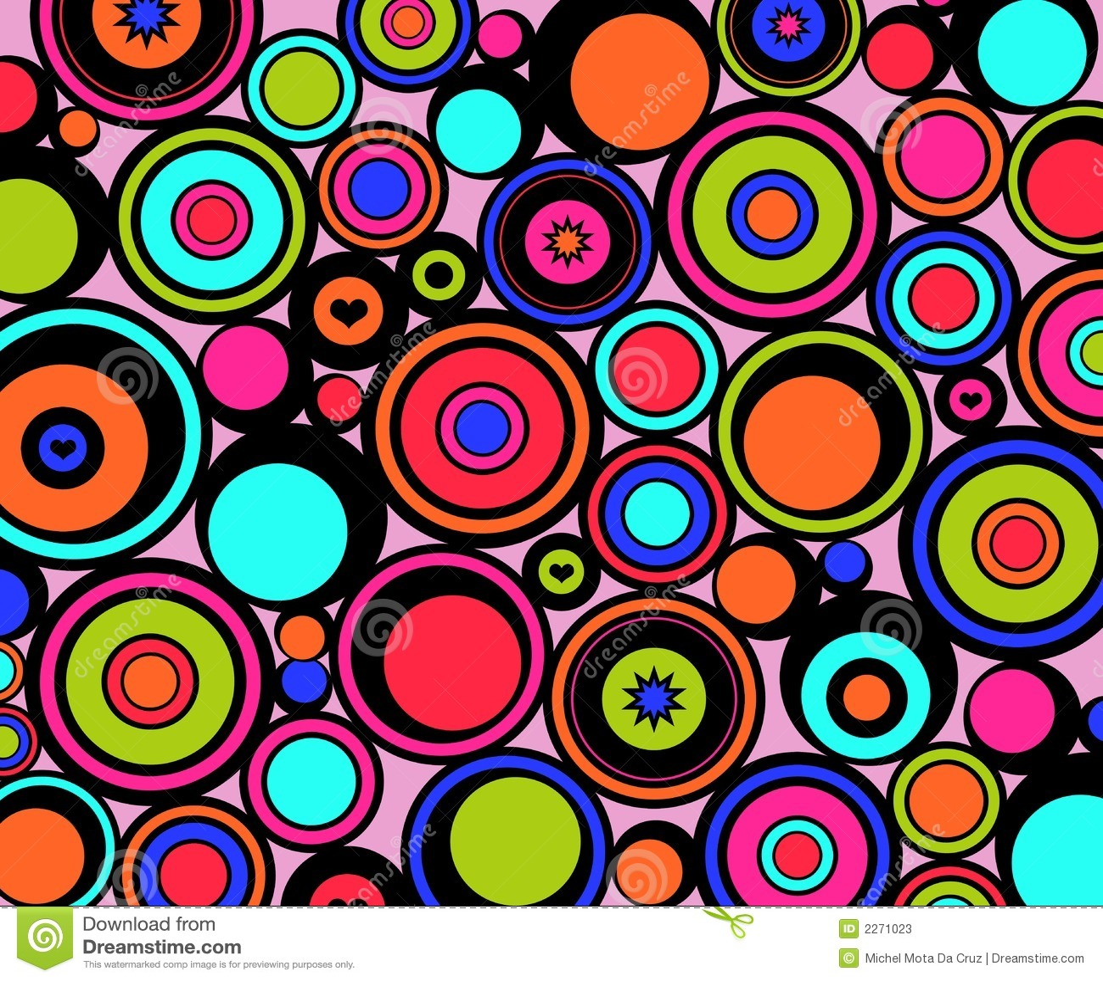 Abstract Circles Retro Stock Illustration. Illustration Of