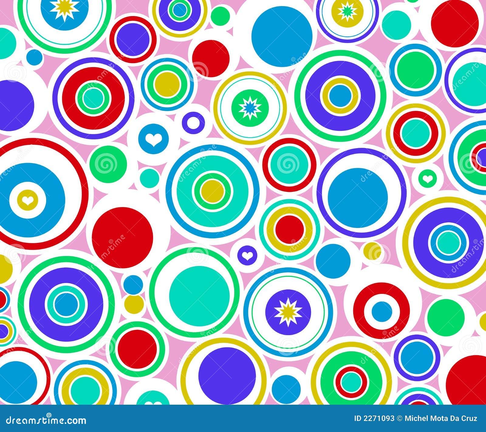 abstract circles retro stock illustration  image of circle
