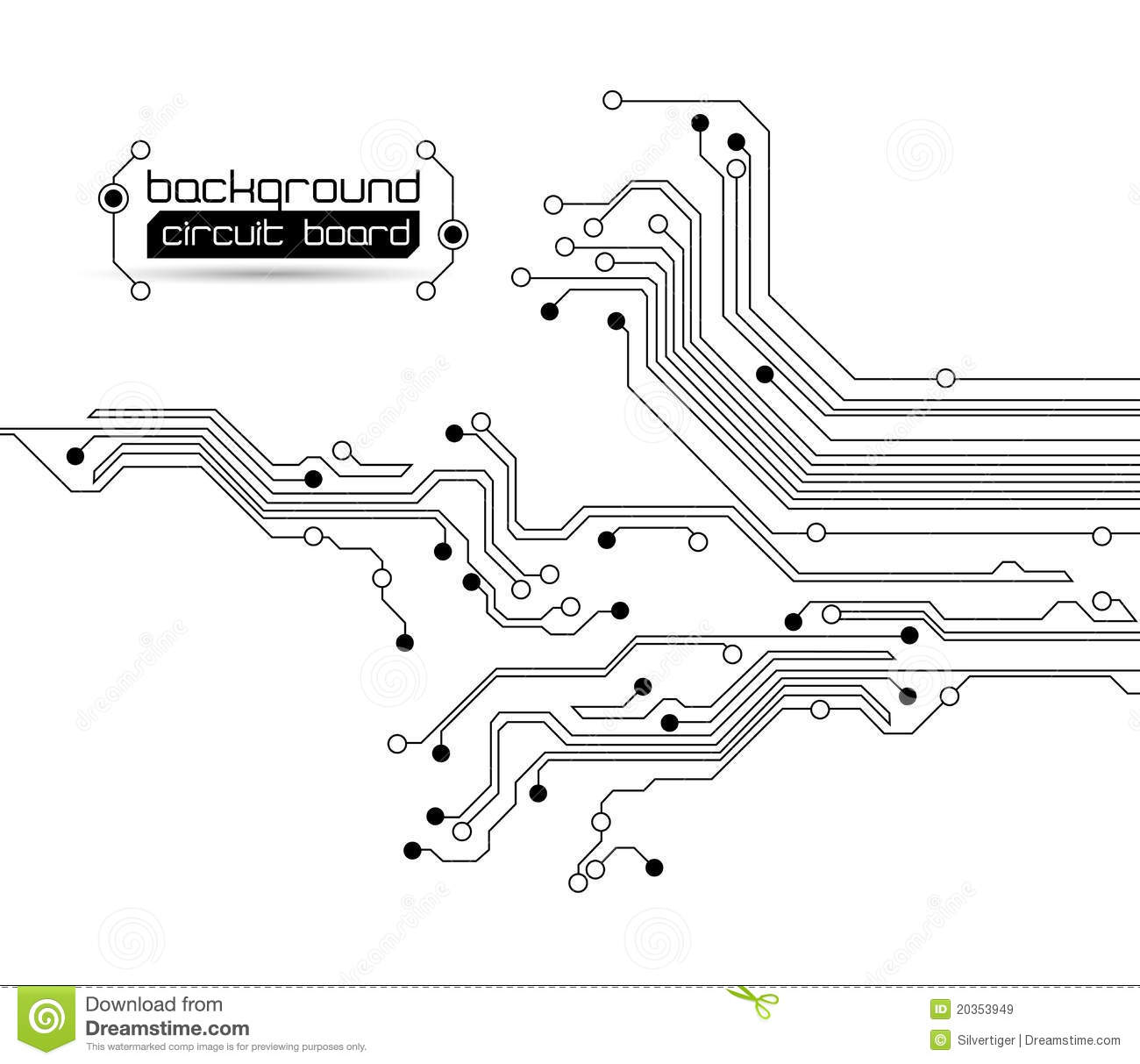 abstract circuit board background stock vector