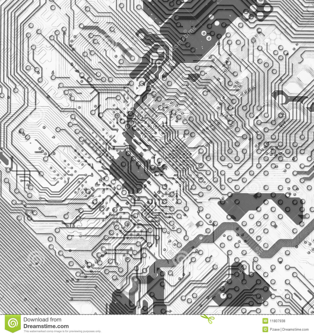 Abstract Circuit Board Background In Hi Tech Style Royalty