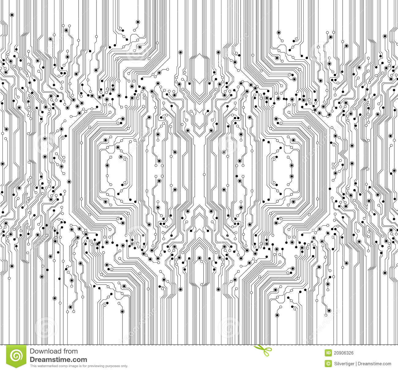 Abstract Circuit Board Texture Background Stock Vector ...