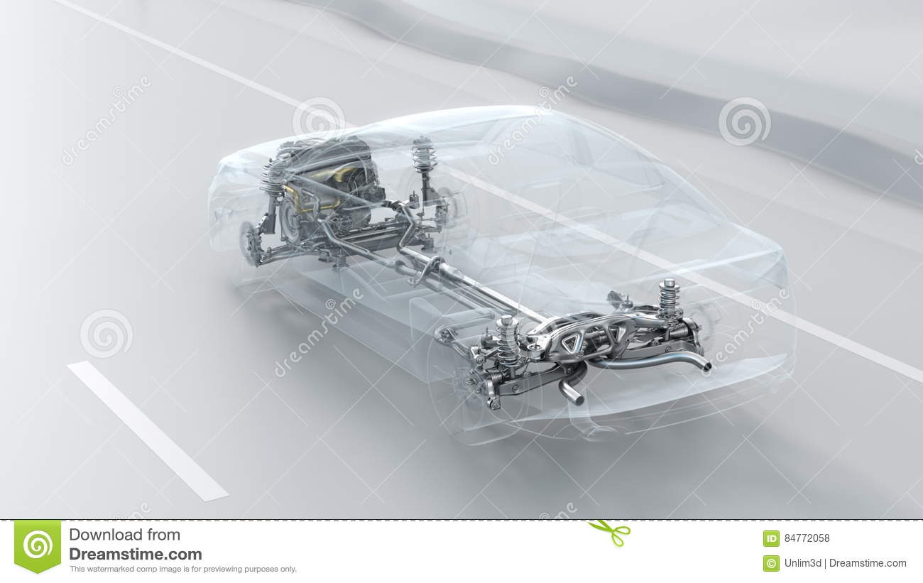 Abstract City Car Structure Overview During Drive. Opacity Design 3d ...