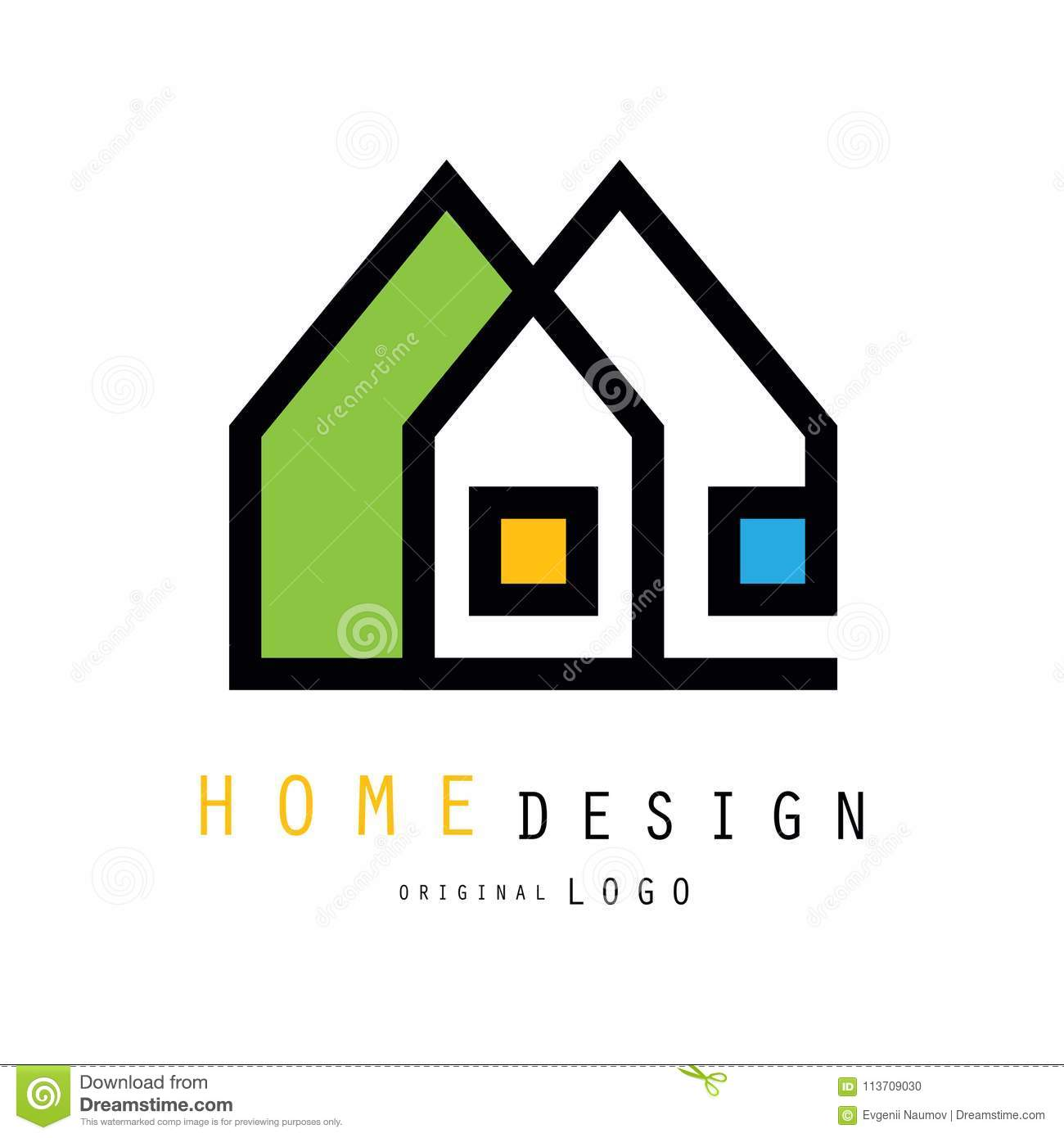 Abstract Houses For Logo Of Construction Or Architecture Company ...