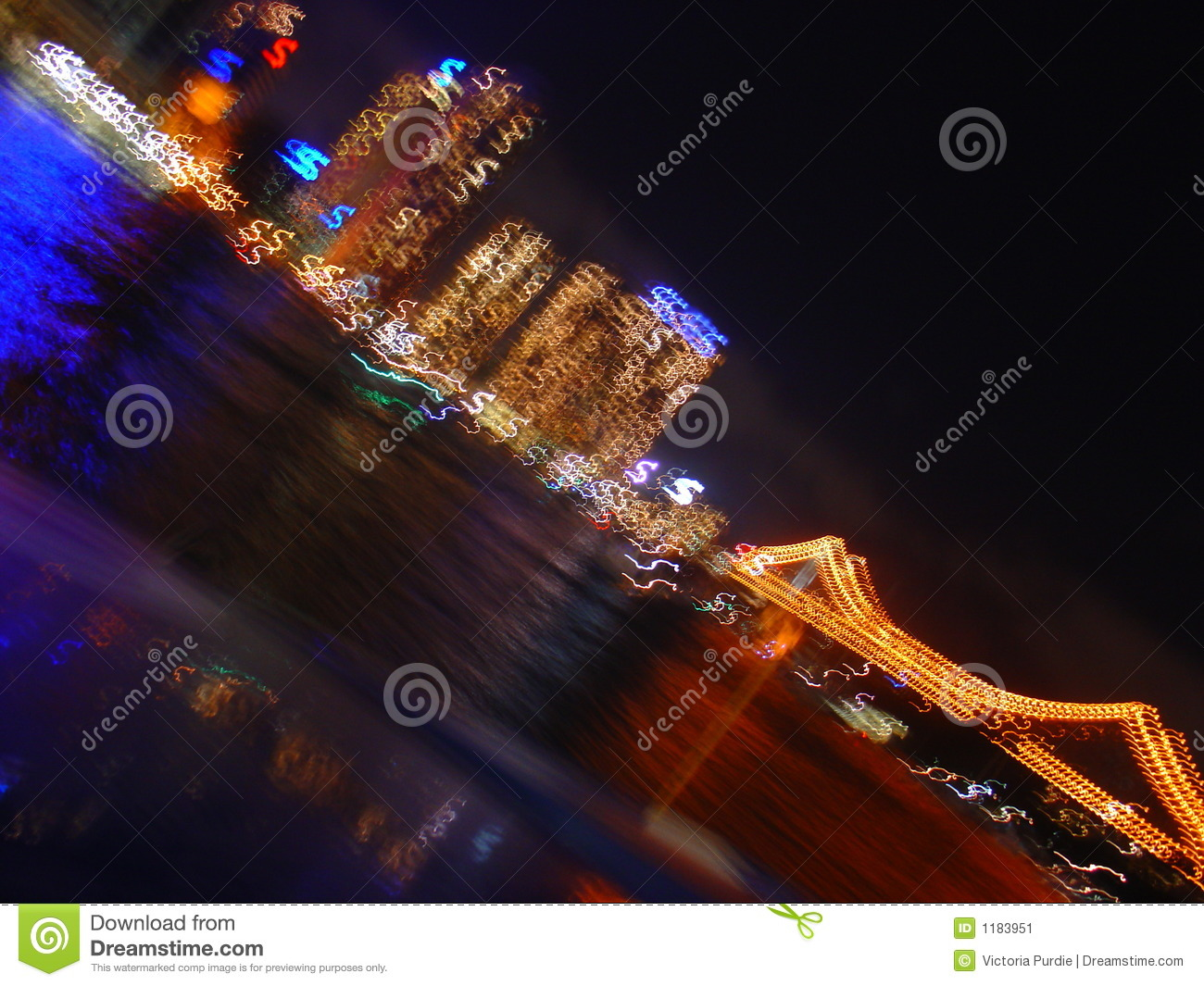 Abstract of City Lights