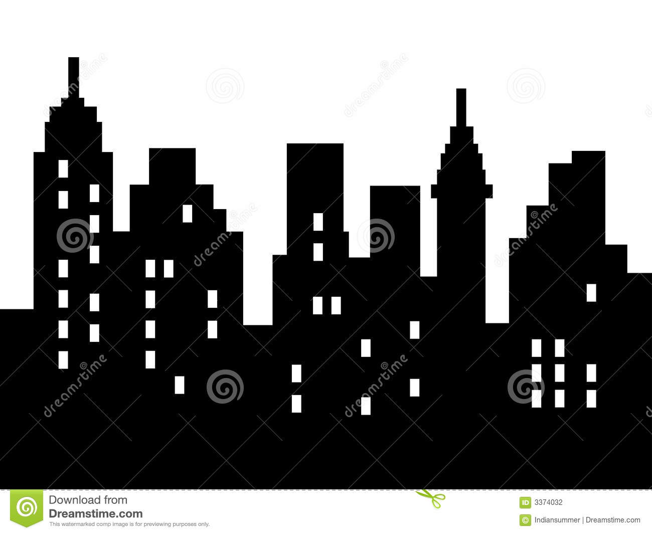 Abstract City Silhouette Stock Photography Image 3374032