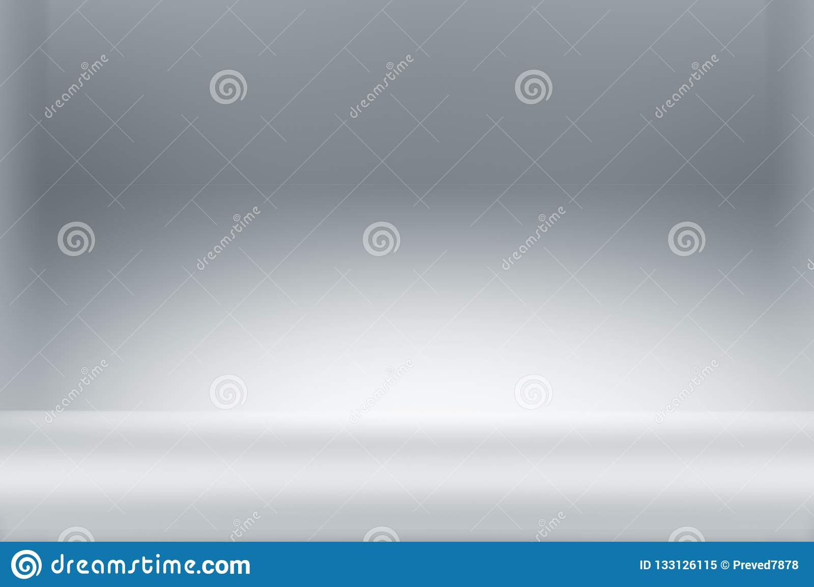 Abstract clean white light studio background with illumination