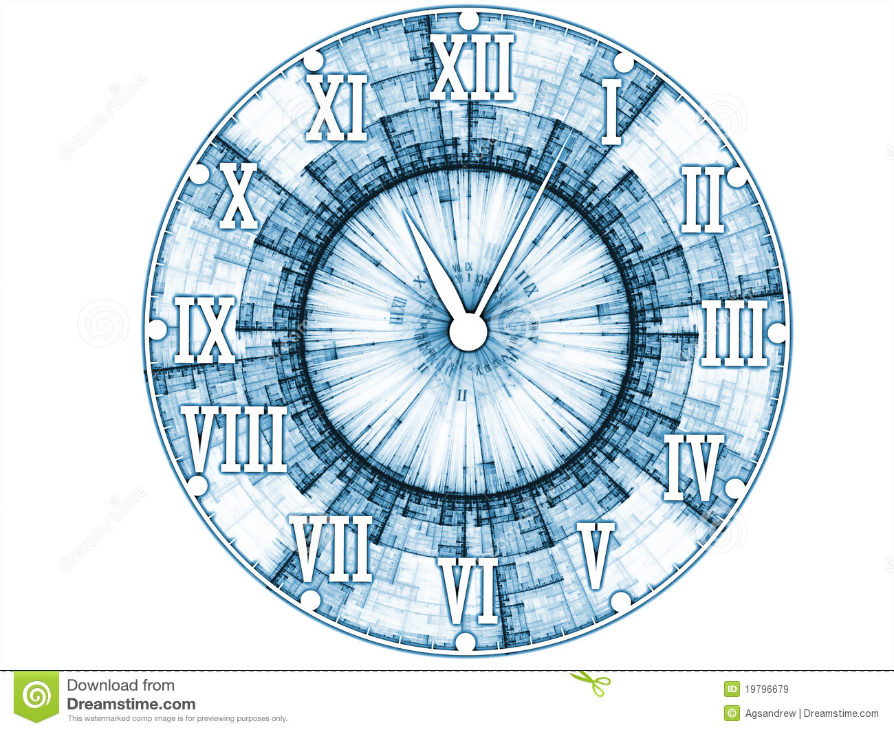 Abstract Clock Face Stock Illustration Image Of Effect