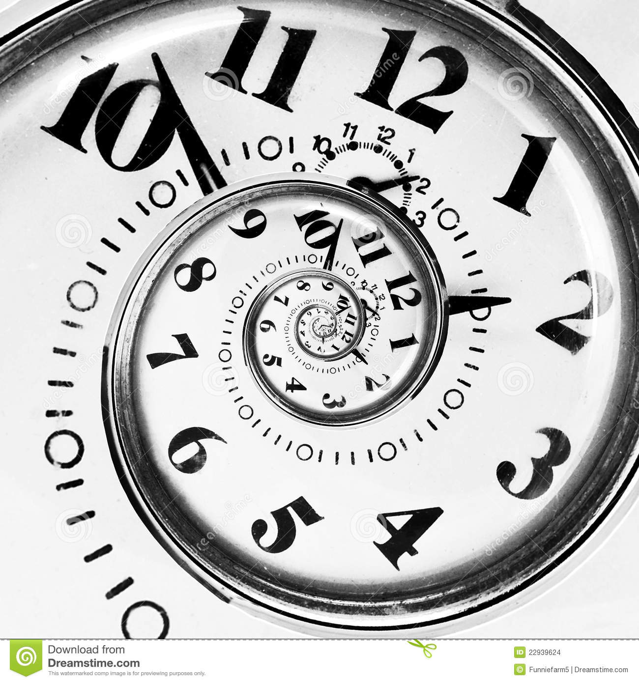 Abstract Clock To Infinity Stock Images - Image: 22939624