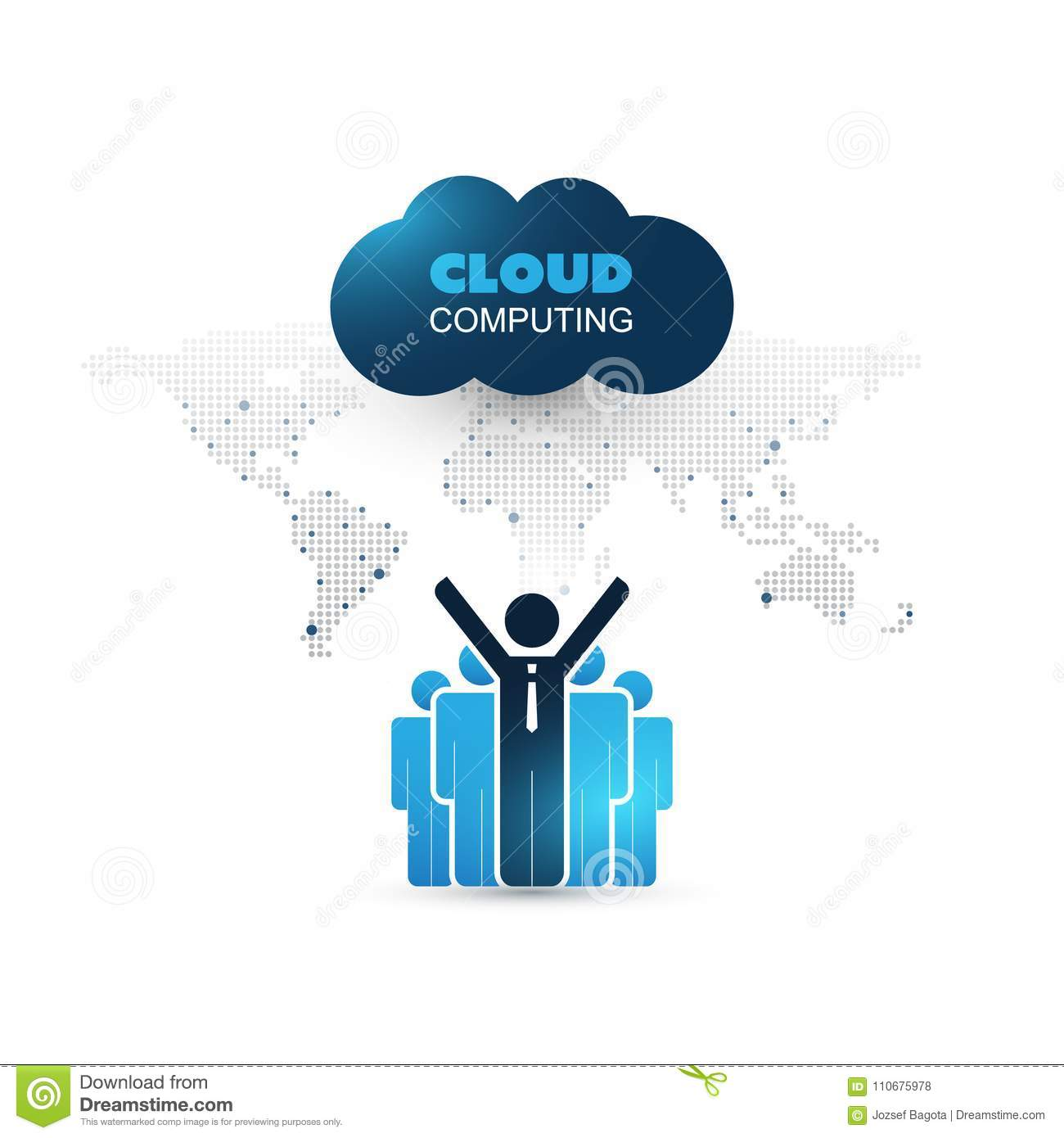 Cloud computing design concept with standing businessmen and world download cloud computing design concept with standing businessmen and world map digital network connections gumiabroncs Gallery