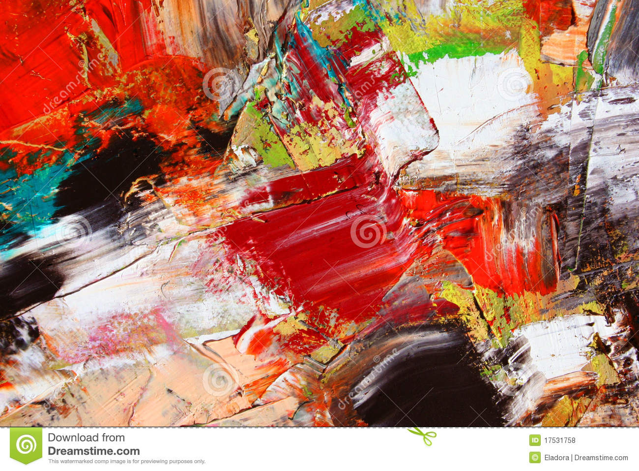 Abstract collage as background
