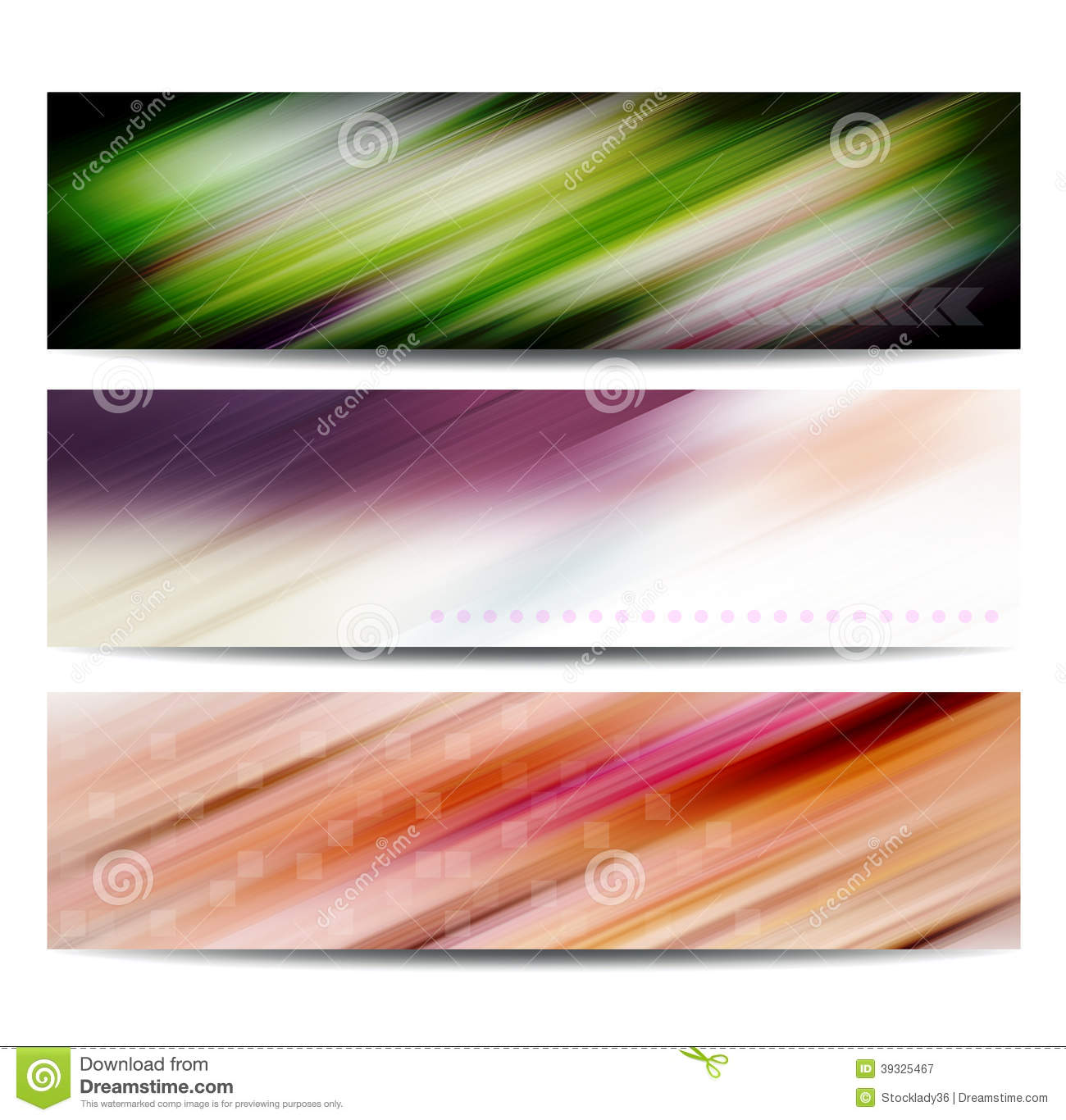 Abstract color banner set