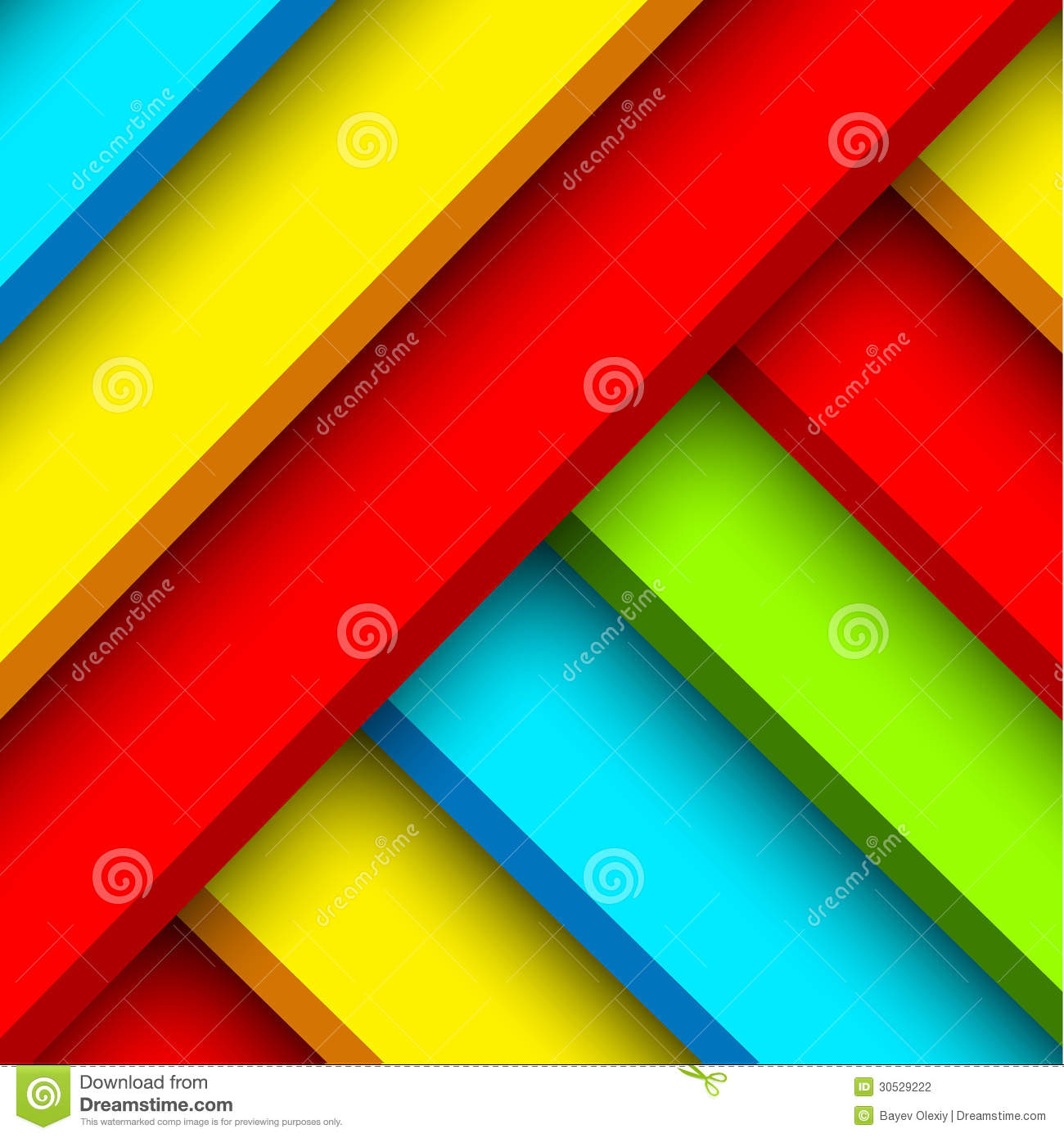 S Color Block Graphic Design