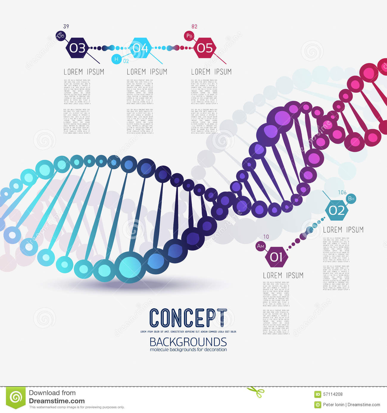 abstract color geometric lattice dna stock vector image