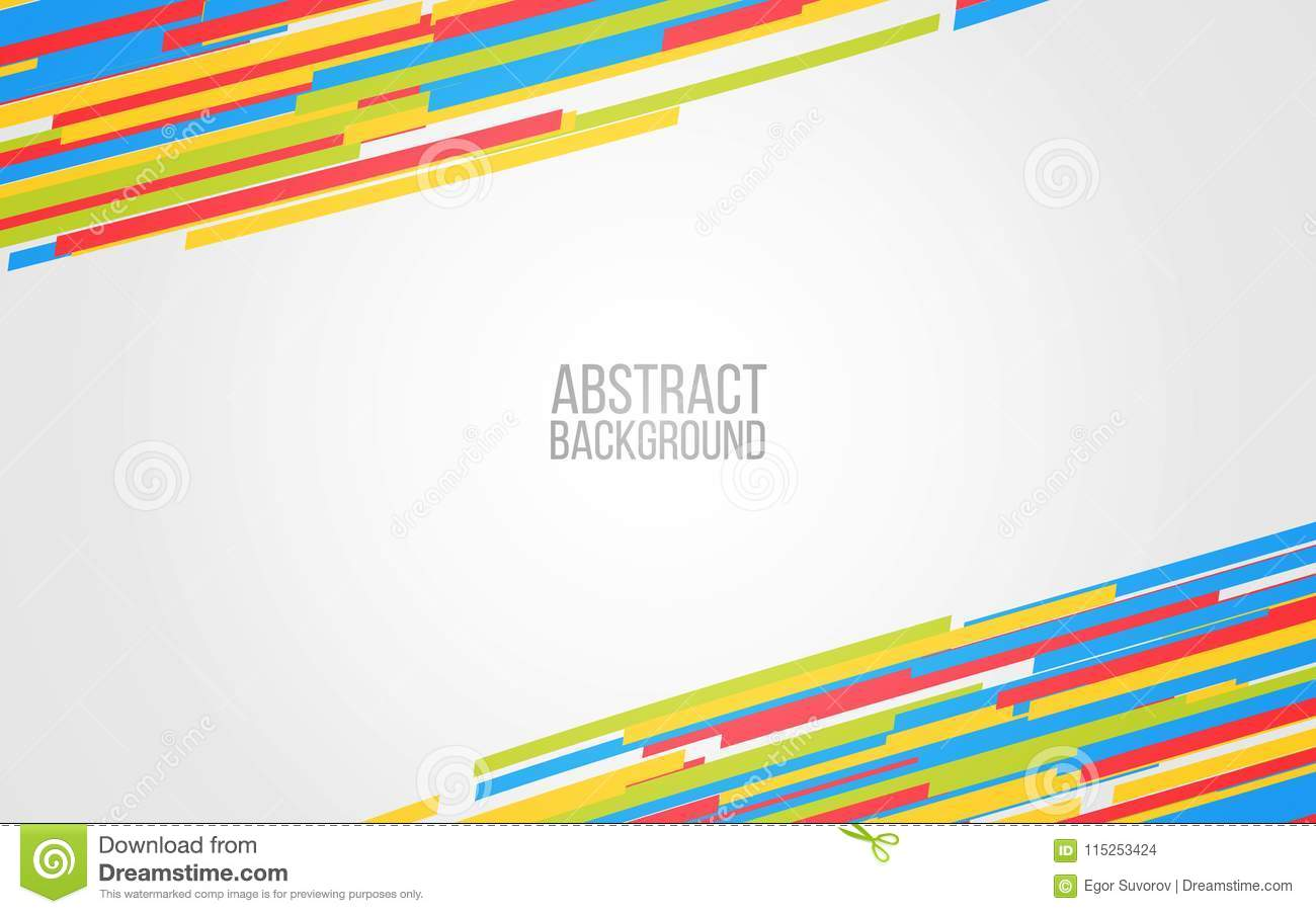 abstract color lines background colorful shapes on gray backdrop
