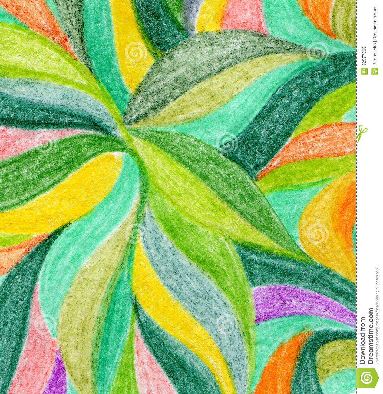 abstract color pencil background stock image - image: 33306107, Powerpoint templates