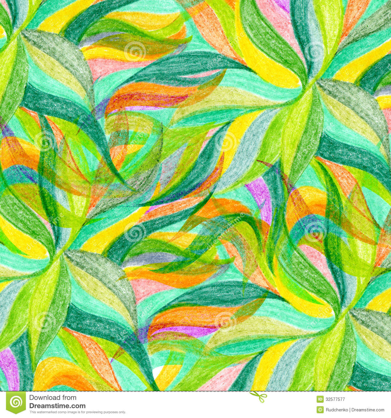 Abstract Color Pencil Draw Background Stock Image - Image of flower ...