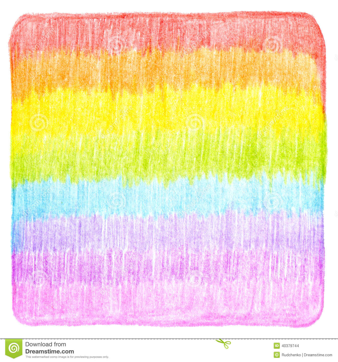 Abstract Color Pencil Scribbles Background Stock ...