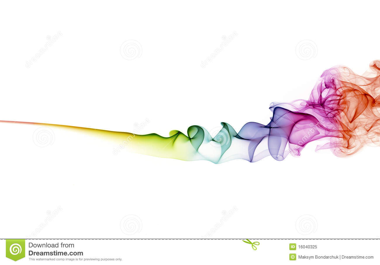 White out logo for coloured backgrounds - Abstract Color Smoke On White Background Royalty Free Stock Photo