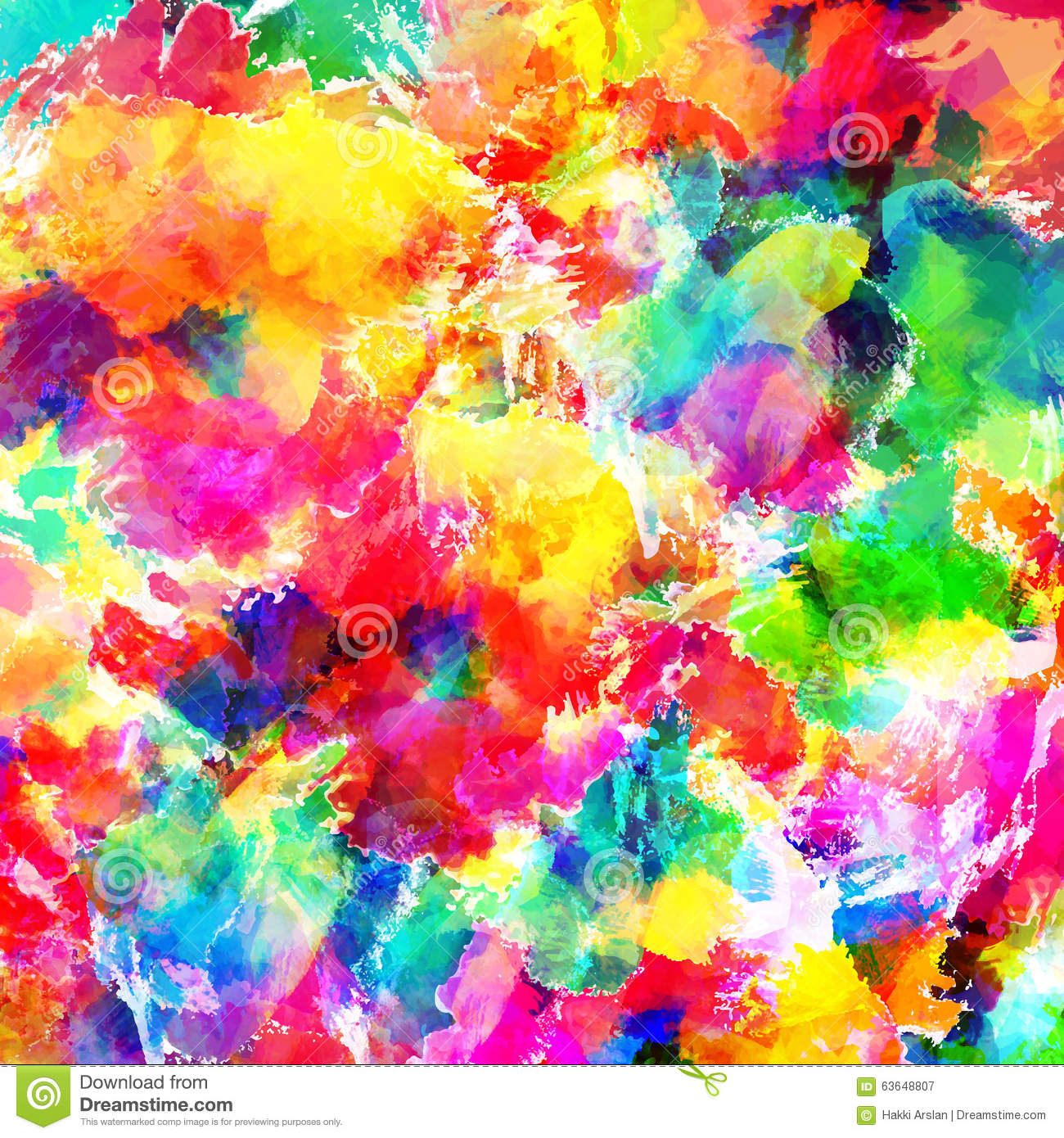 Abstract Color Splash Background Illustration Stock Illustration