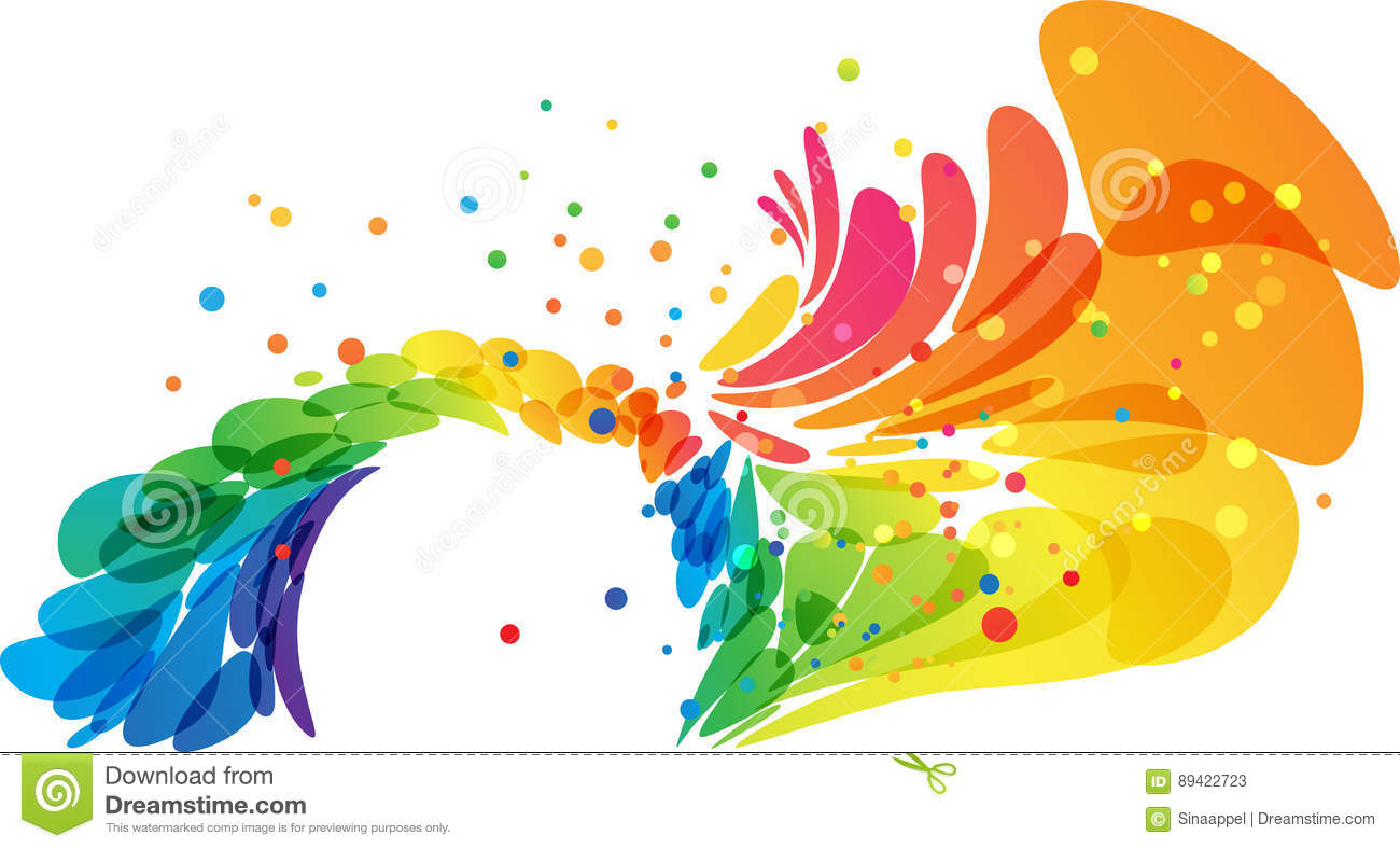 Color Abstract Vector Background Text Frame Stock Vector: Abstract Colored Splash Circle Frame Stock Vector