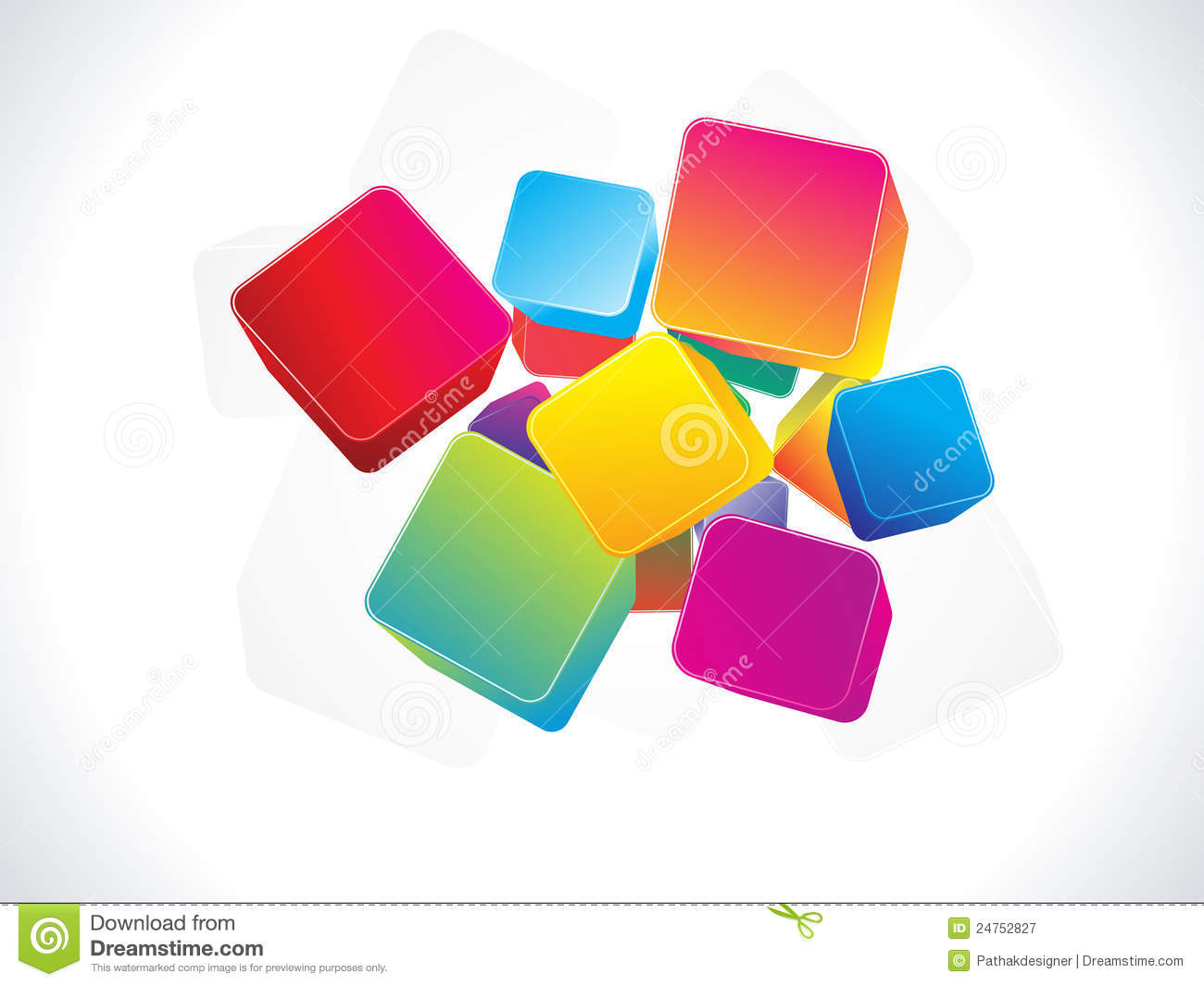 Abstract Colorful 3d Box Background Royalty Free Stock