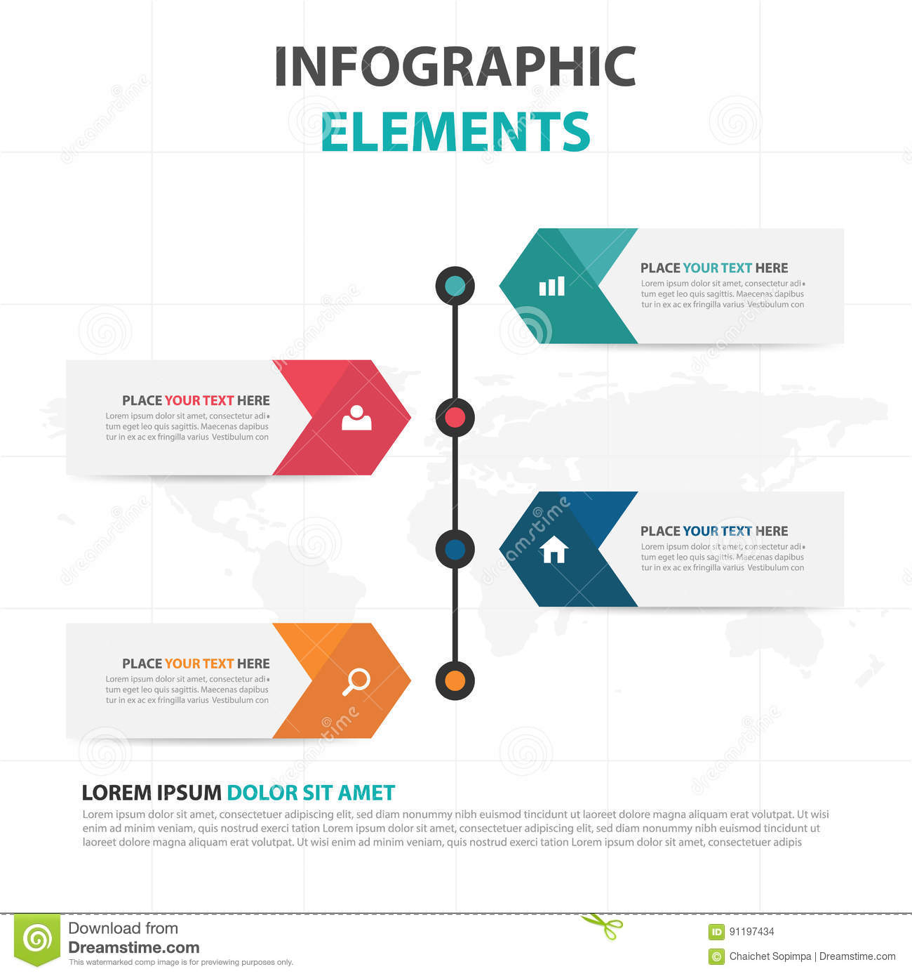 abstract colorful arrow business timeline infographics elements