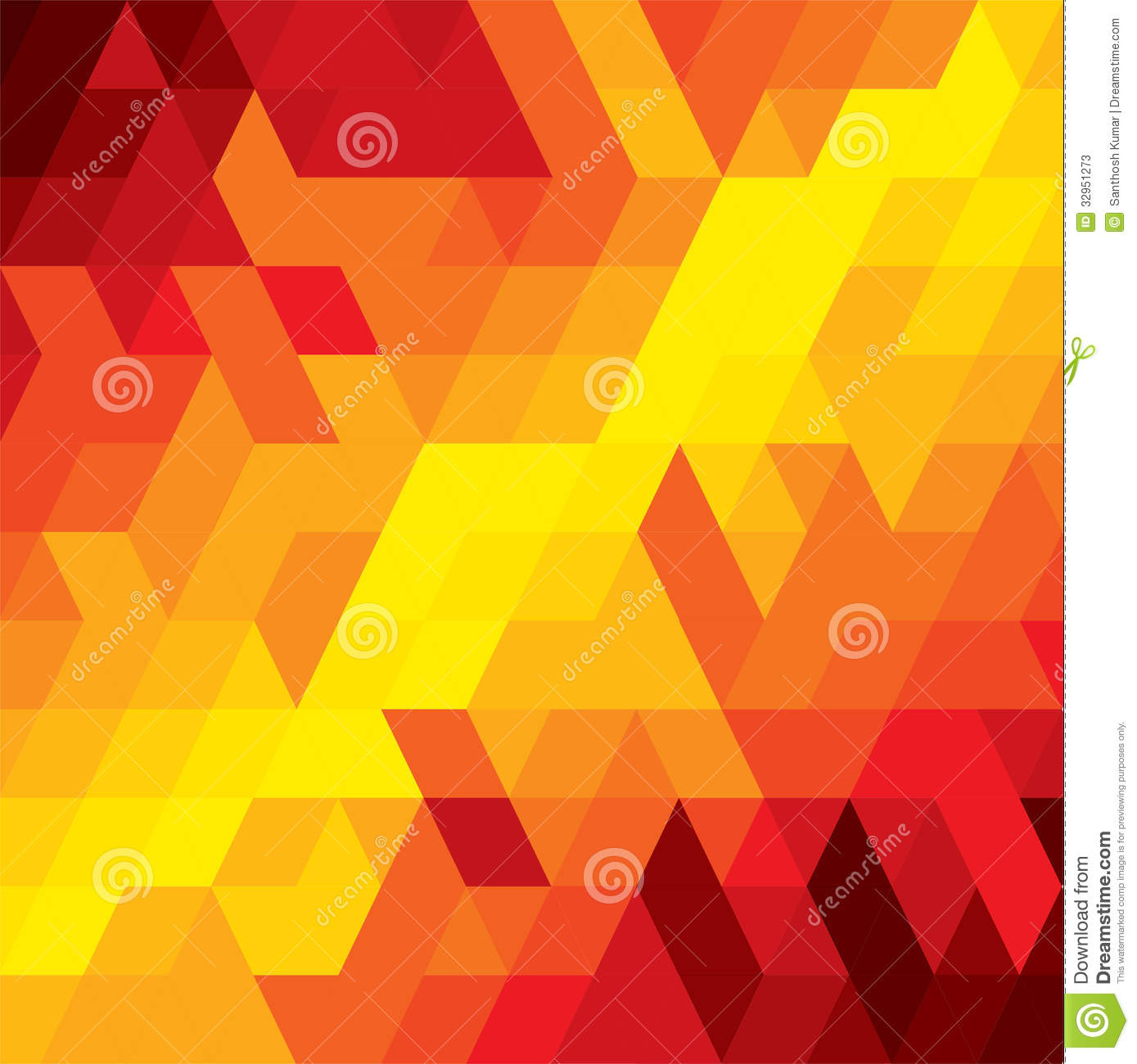 Abstract Colorful Background Of Diamond, Cube & Square