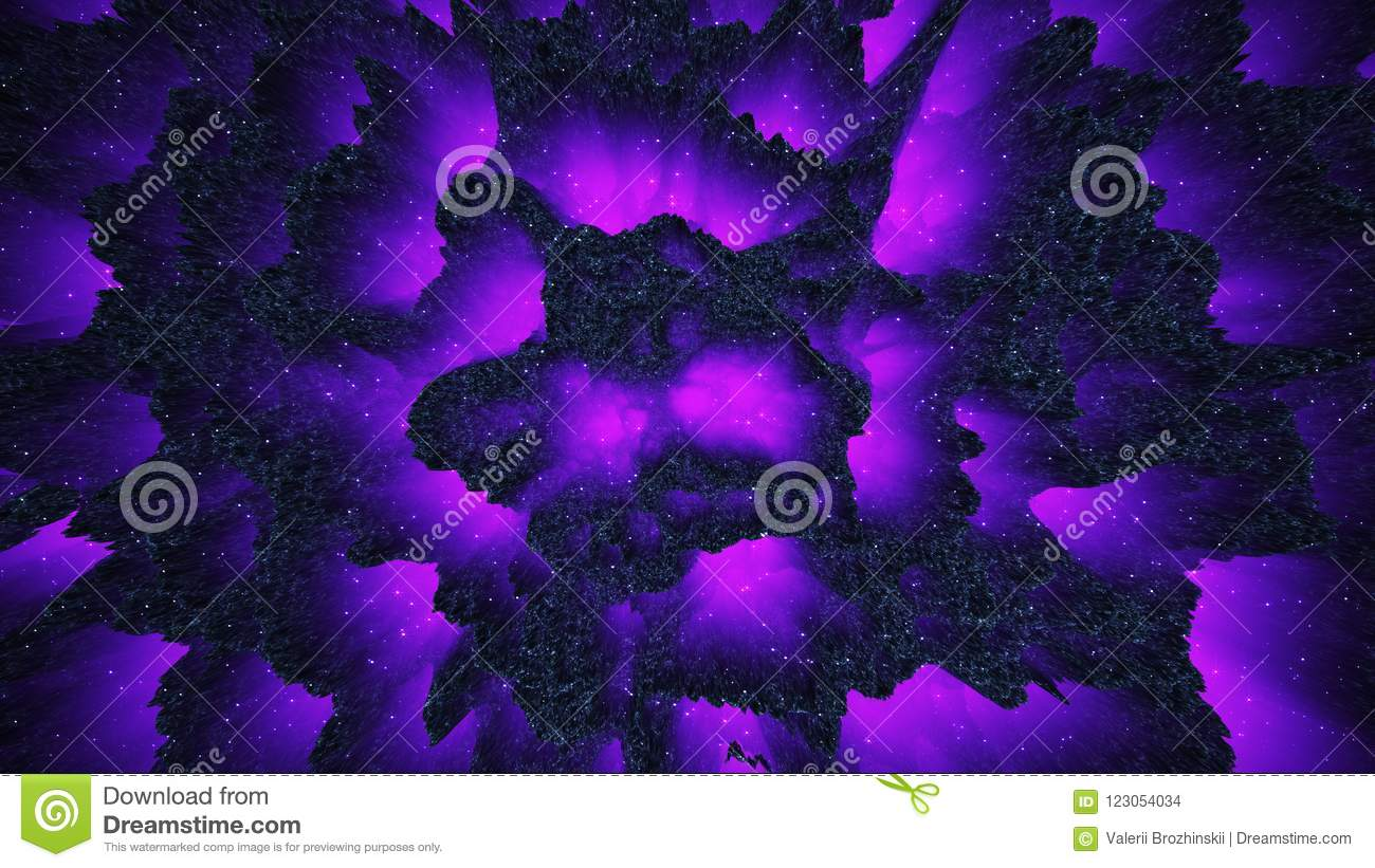 Abstract Colorful Background Fantastic Dark Fluorescent