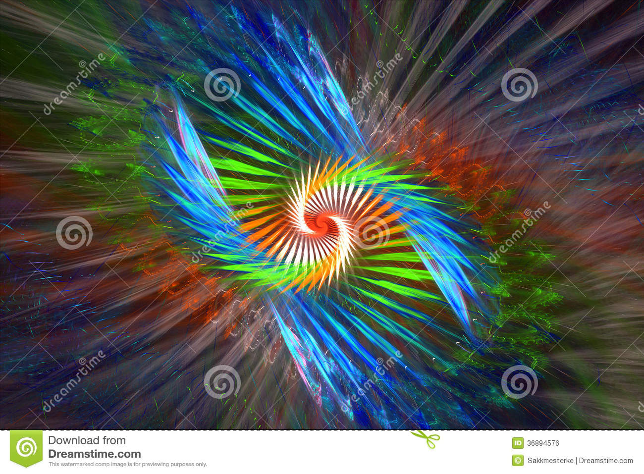 Abstract colorful background, golden ratio