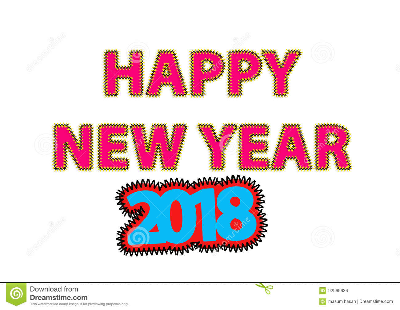 happy new year 2018 greeting card jpg file creating by photoshop cs 5