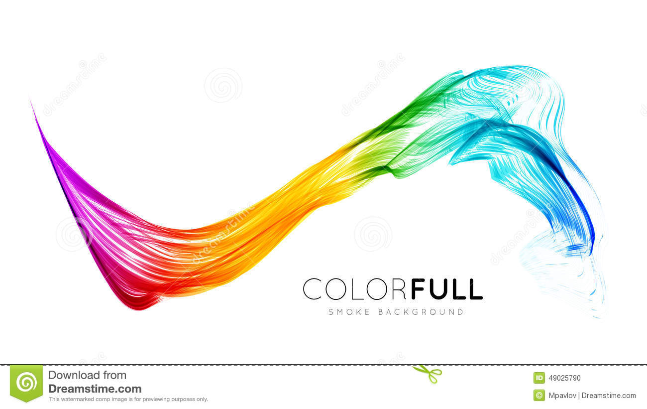 Abstract Volleyball On Colorful Wave Background: Abstract Colorful Background. Stock Vector