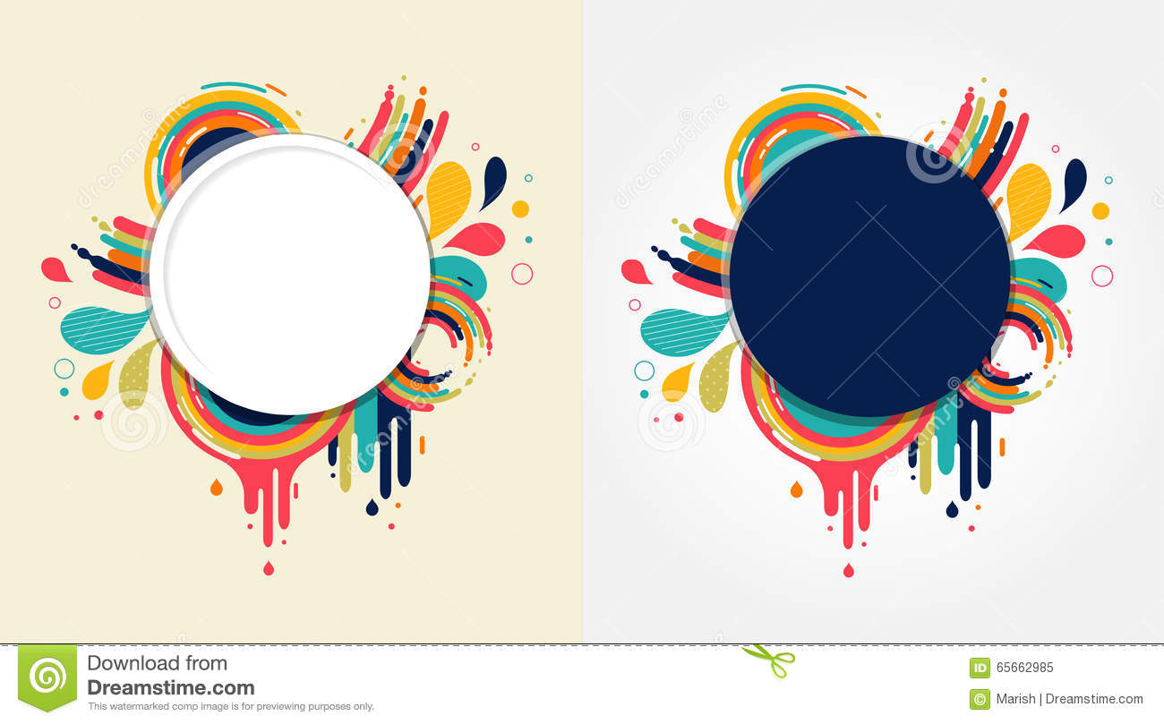 Color Abstract Vector Background Text Frame Stock Vector: Abstract Colorful Background With Text Space Stock Vector