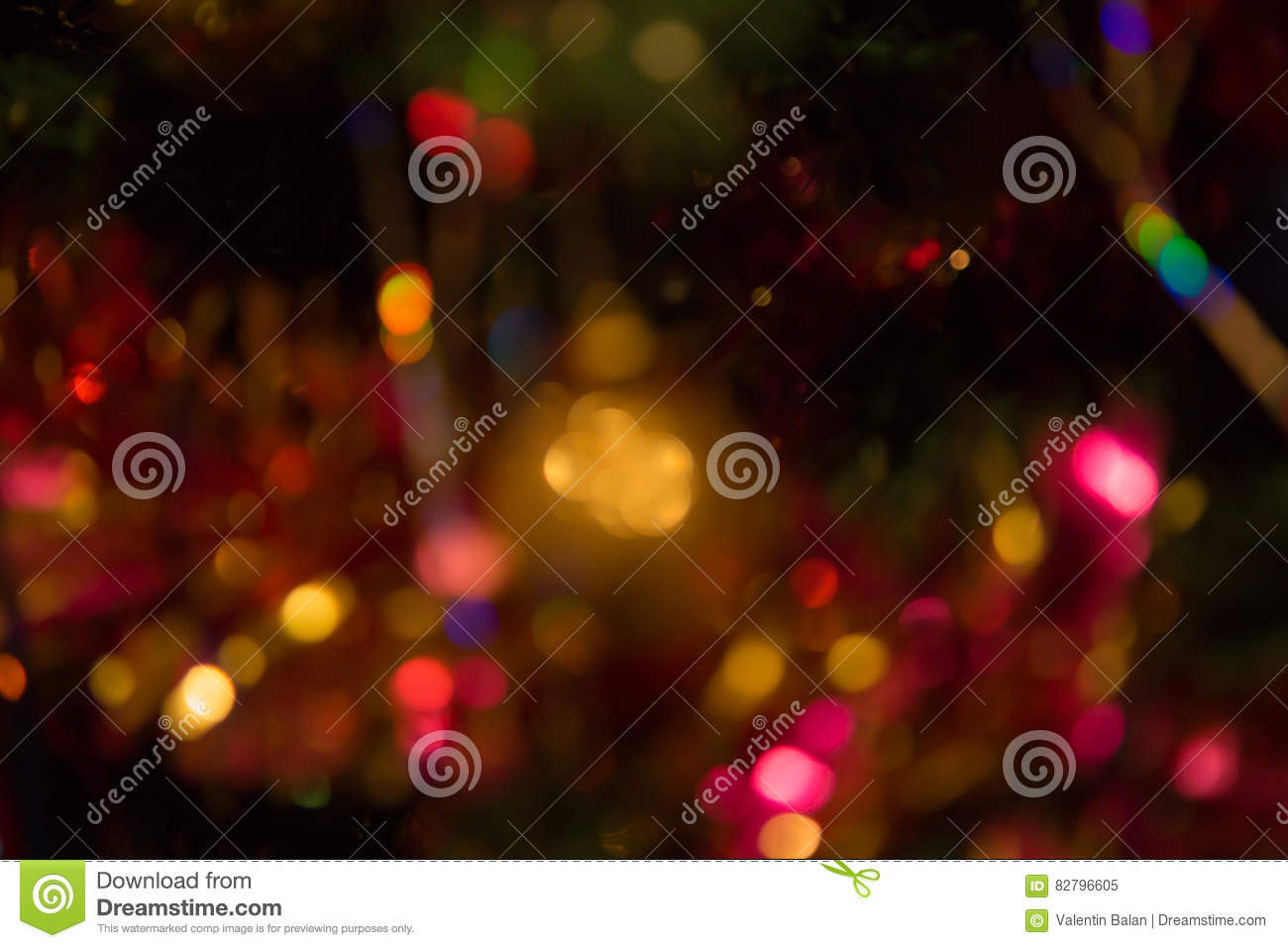 Abstract Colorful Background With Warm Colors. Bokeh ...