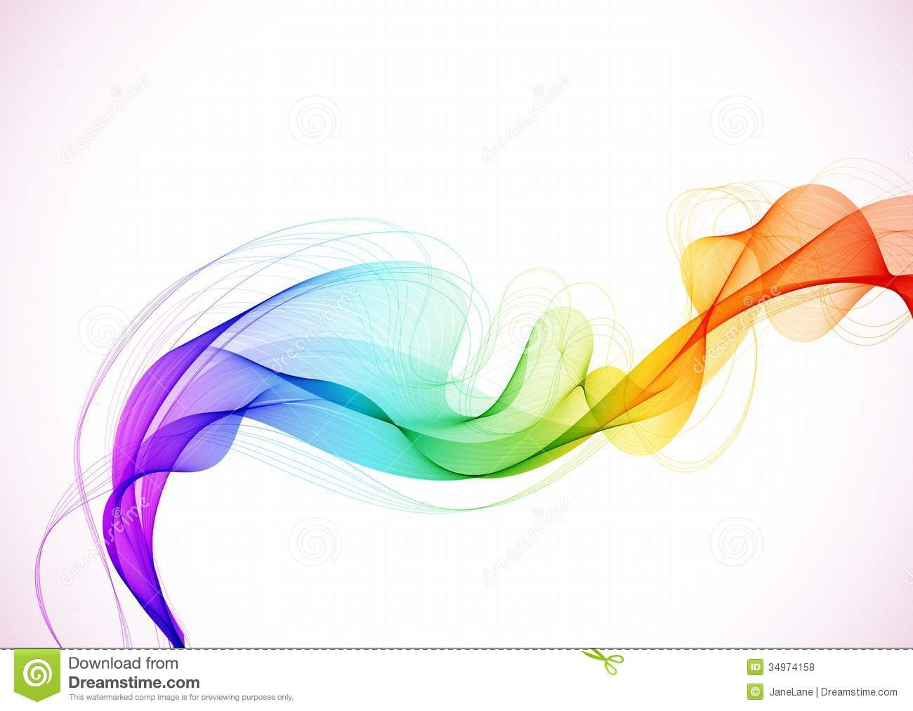 Abstract Volleyball On Colorful Wave Background: Abstract Colorful Background With Wave Stock Illustration
