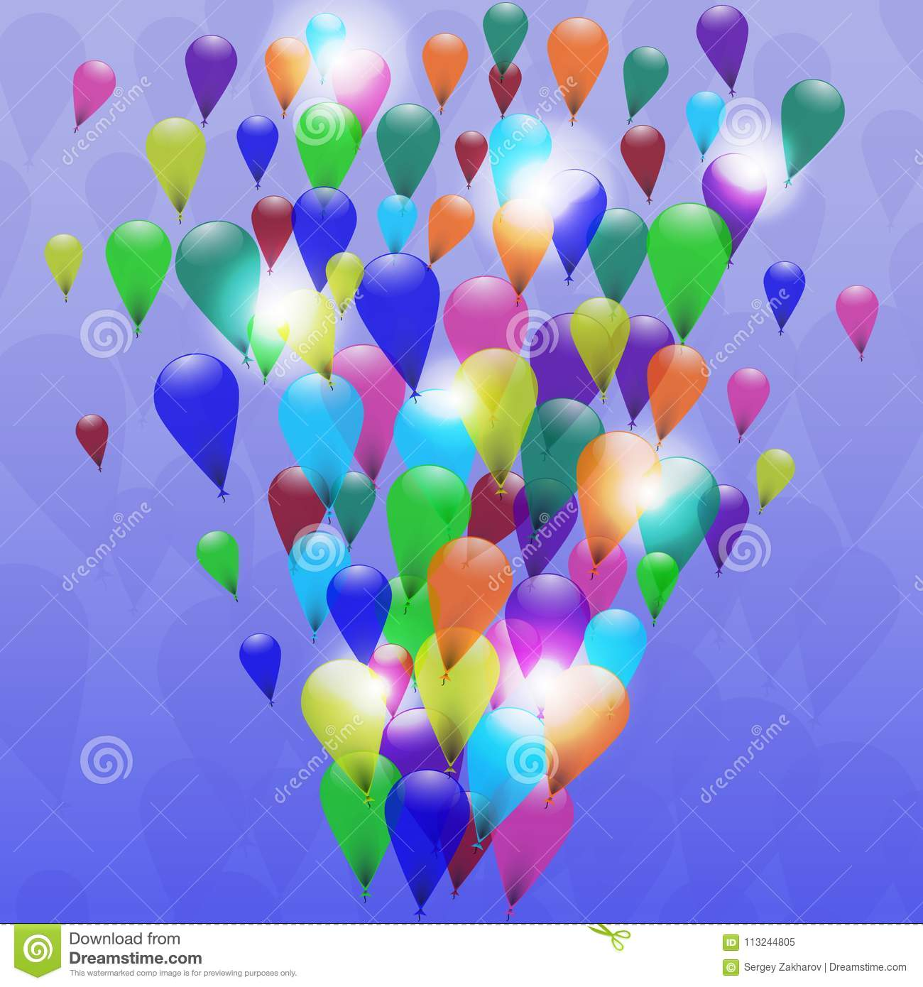 Abstract Colorful Balloons Celebration Background Great For Christmas Birthdays Or Other Celebrations