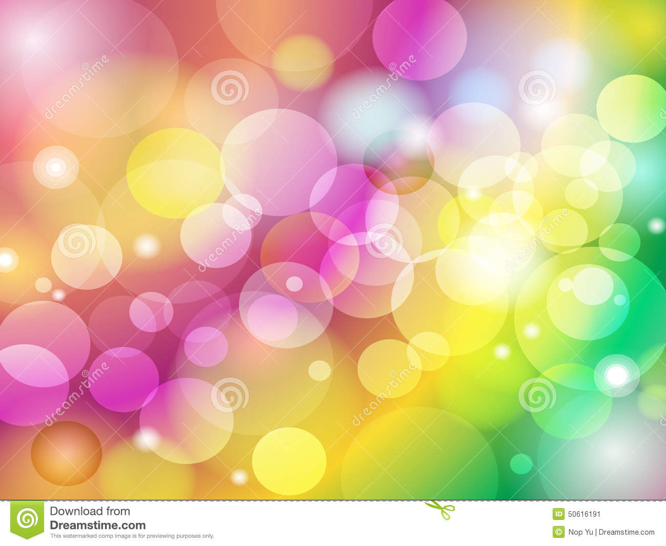 abstract colorful blur bokeh background design stock vector