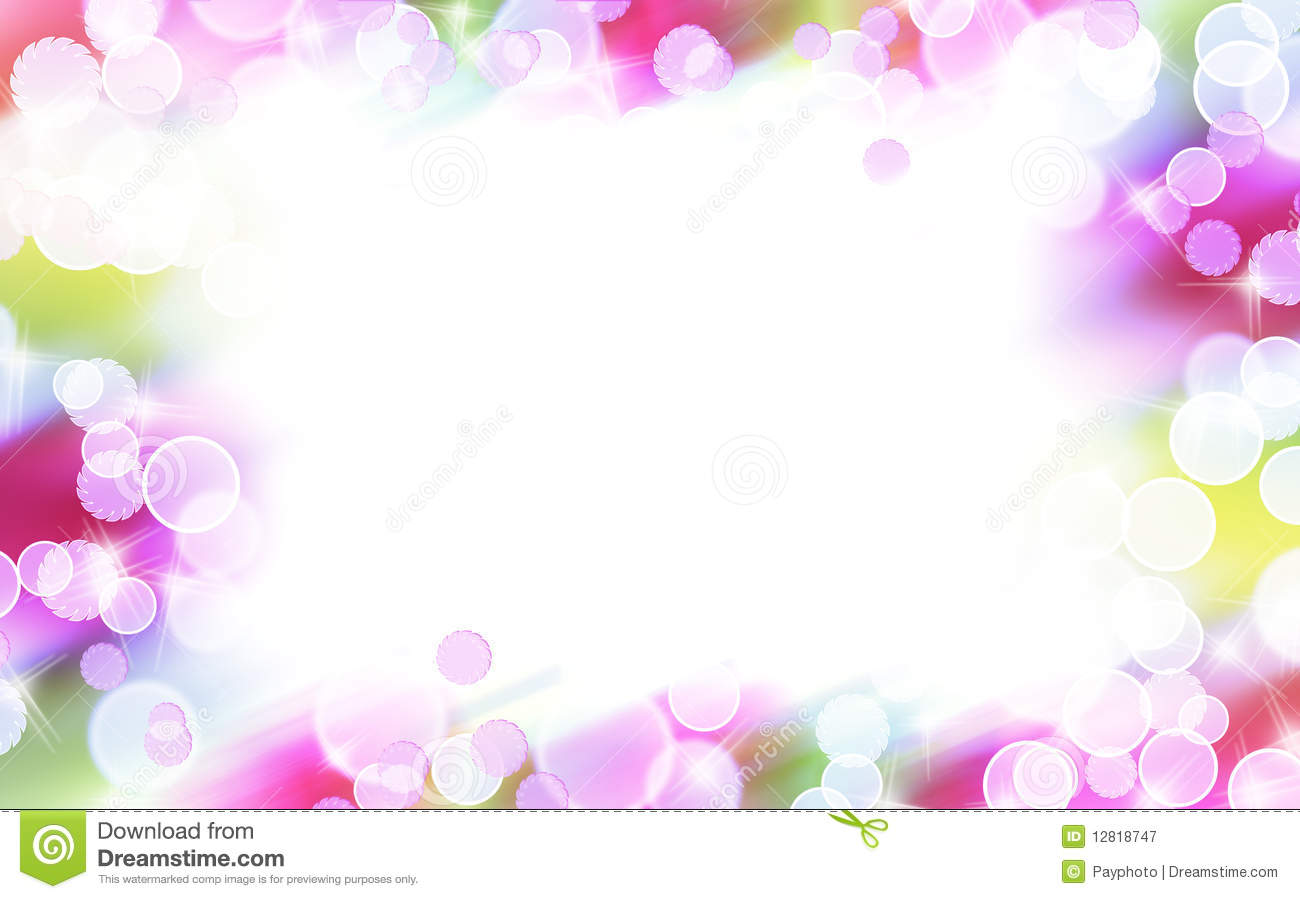 Abstract Colorful Bubble Border Stock Illustration