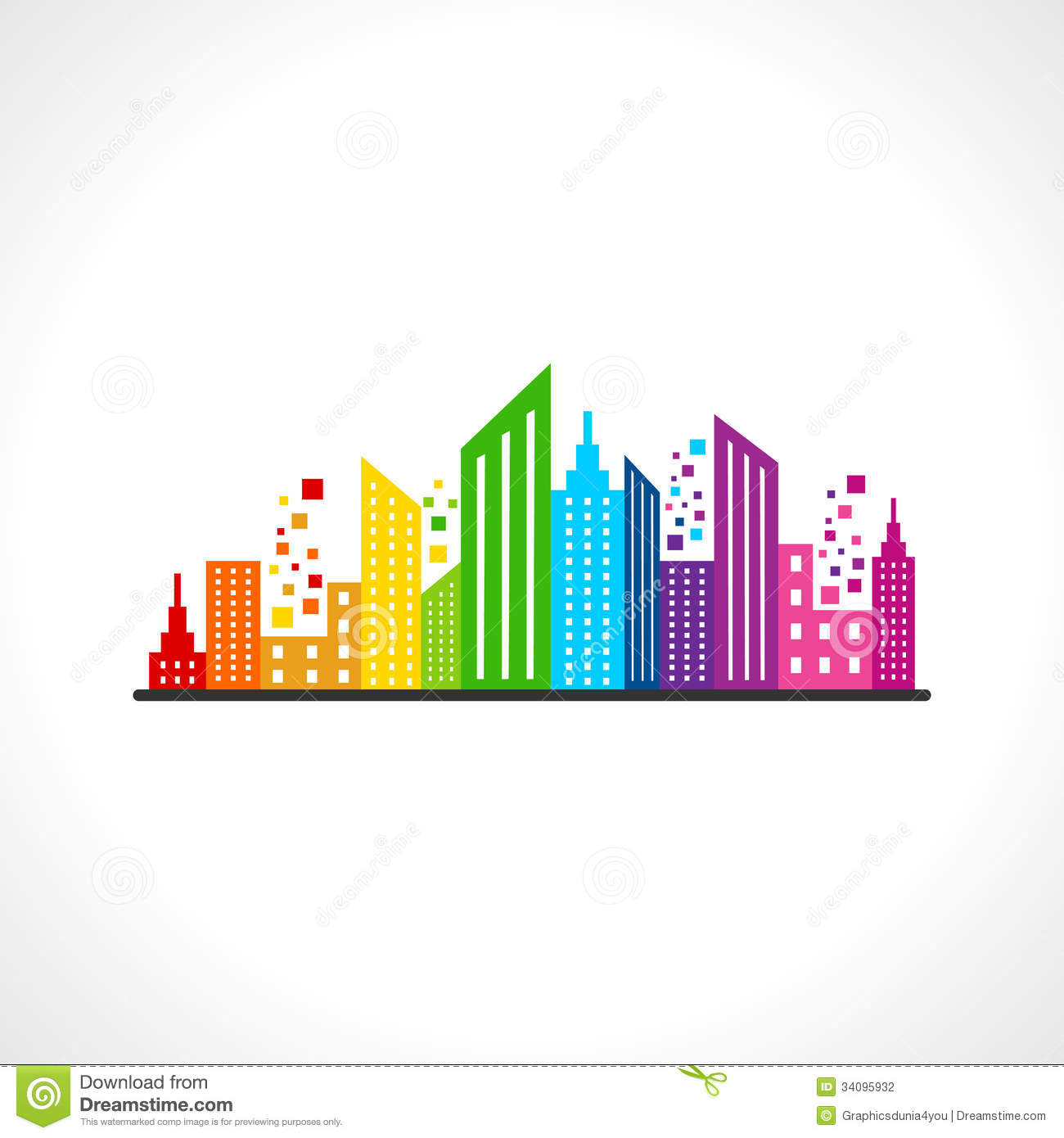 Abstract colorful building design stock photography for Building design