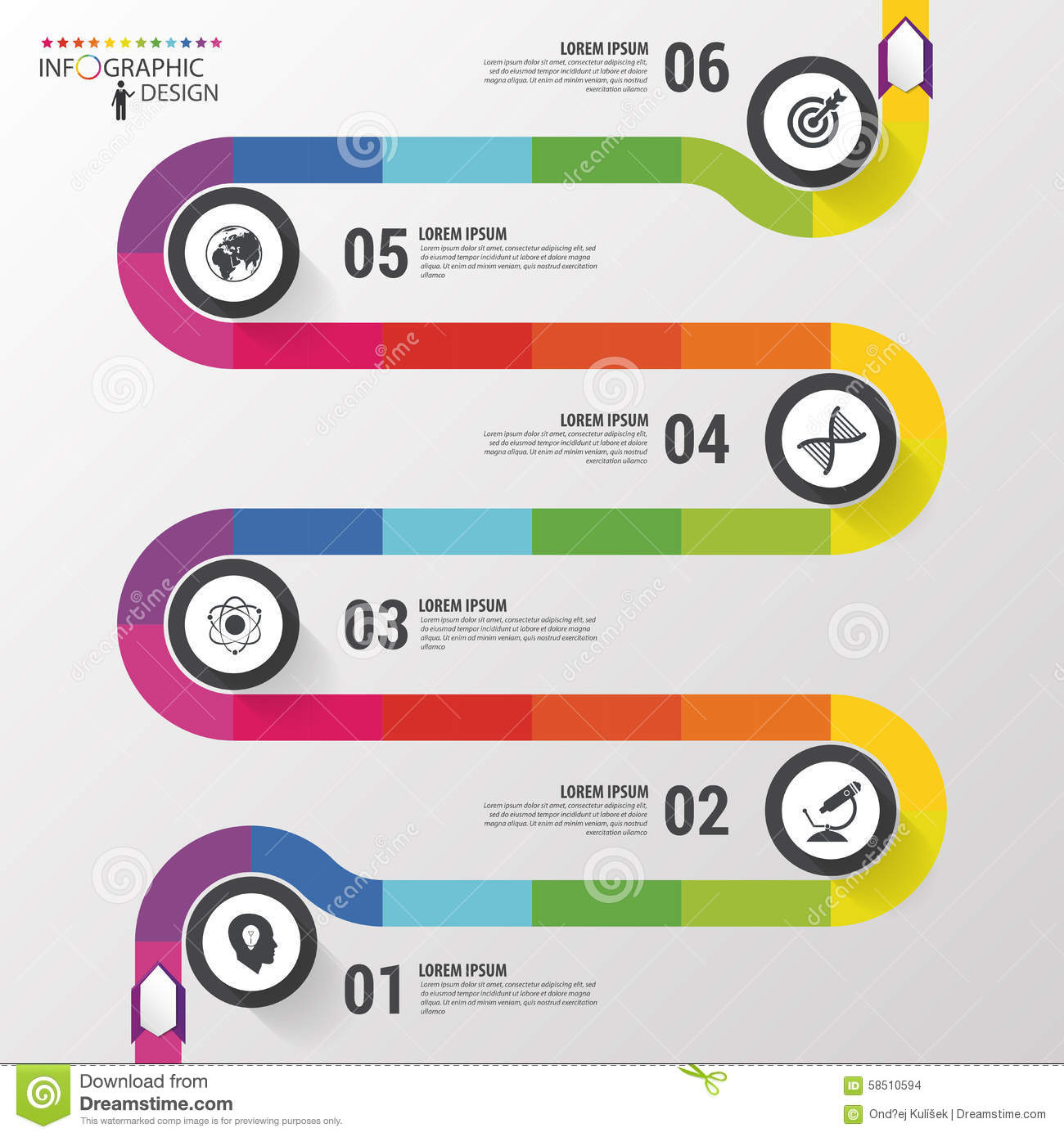 Infographic timeline in flat design Vector  Free Download