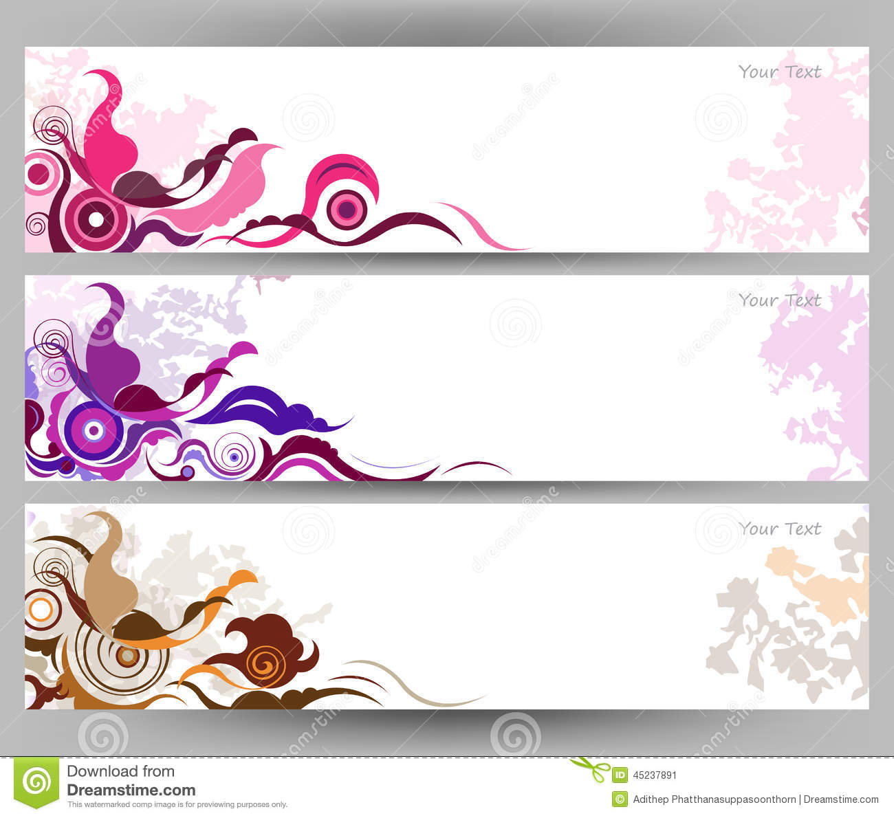 Abstract Colorful Butterfly And Flower Vector Background