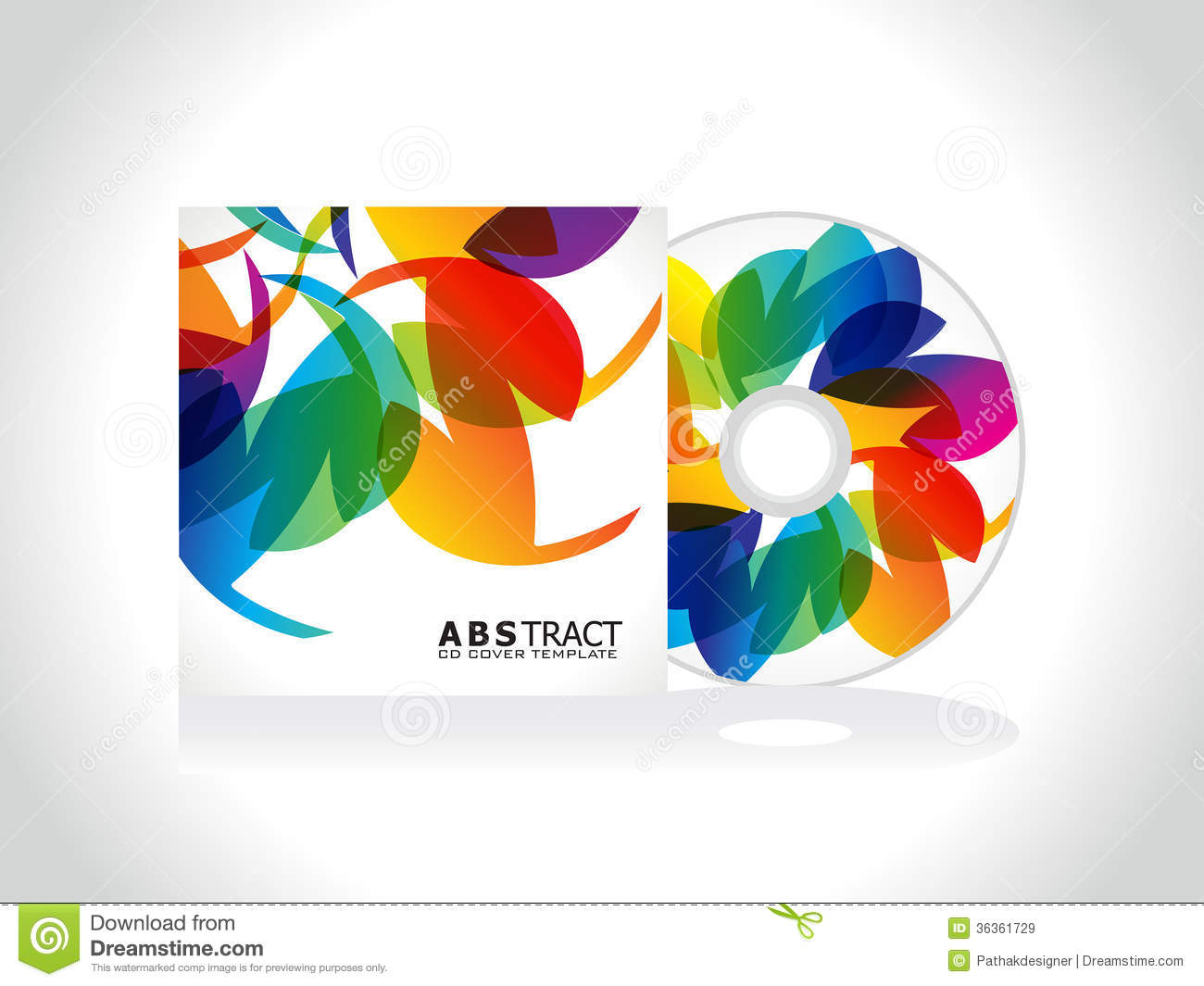 Abstract Colorful Cd Cover Template Royalty Free Stock