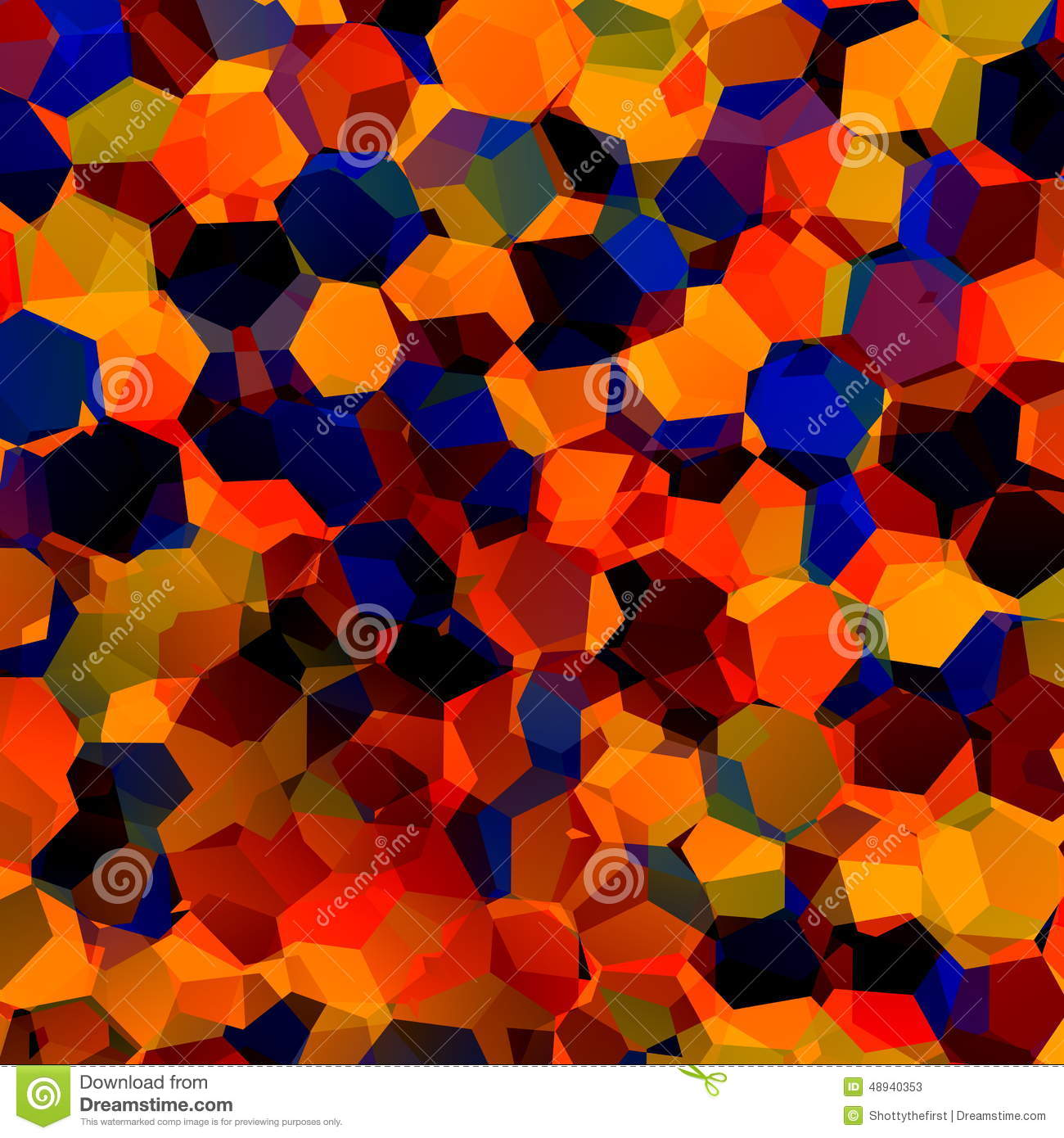 Abstract Colorful Chaotic Geometric Background. Generative Art Red ...