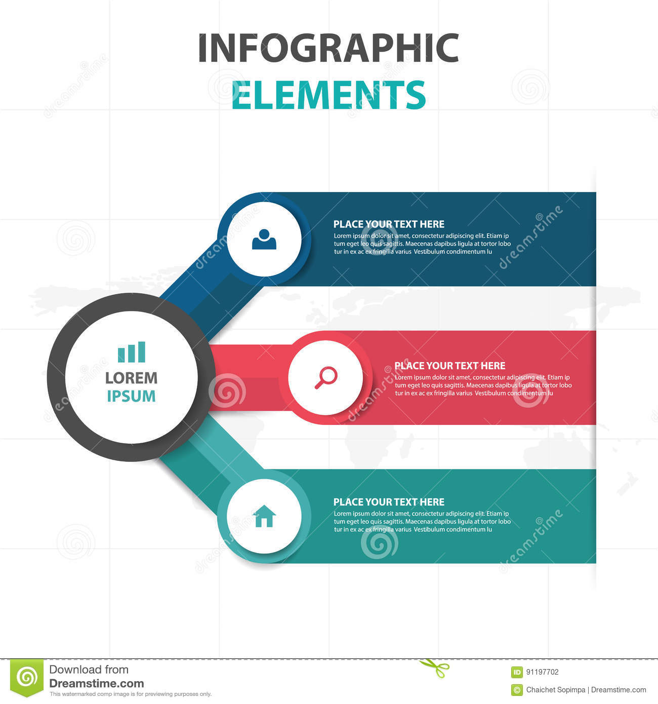 abstract colorful circle business timeline infographics elements, Templates