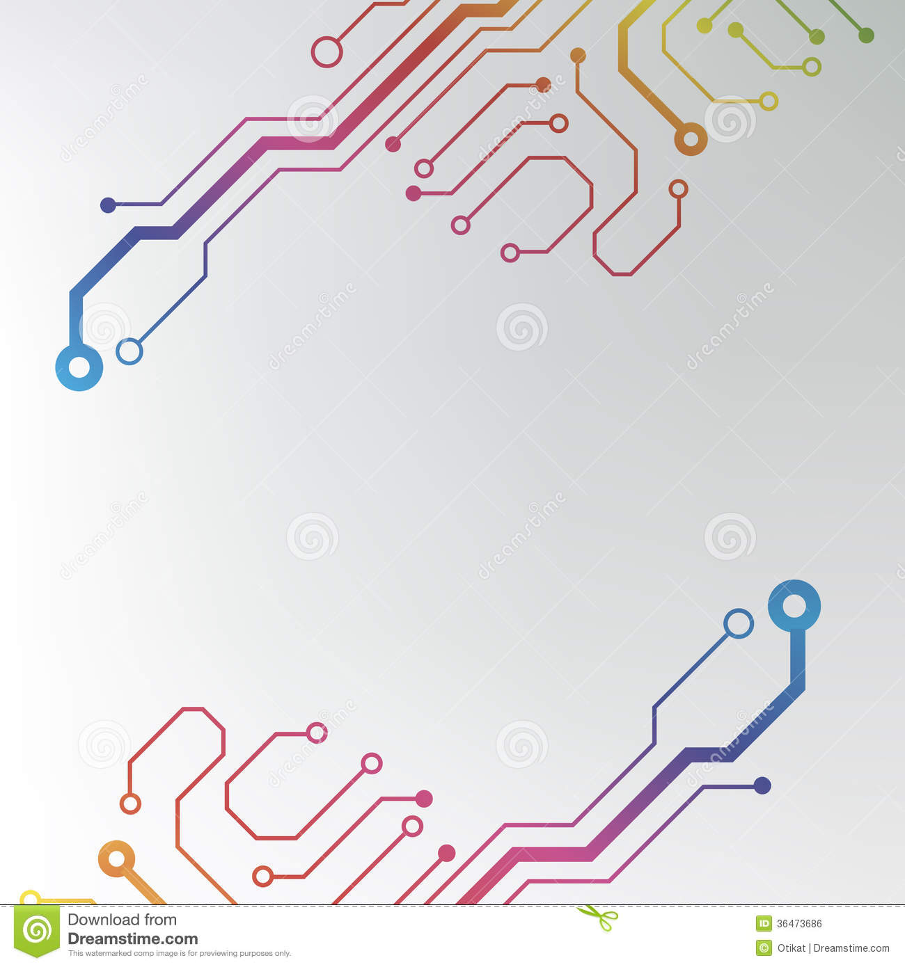 abstract colorful circuit board background circuit lined