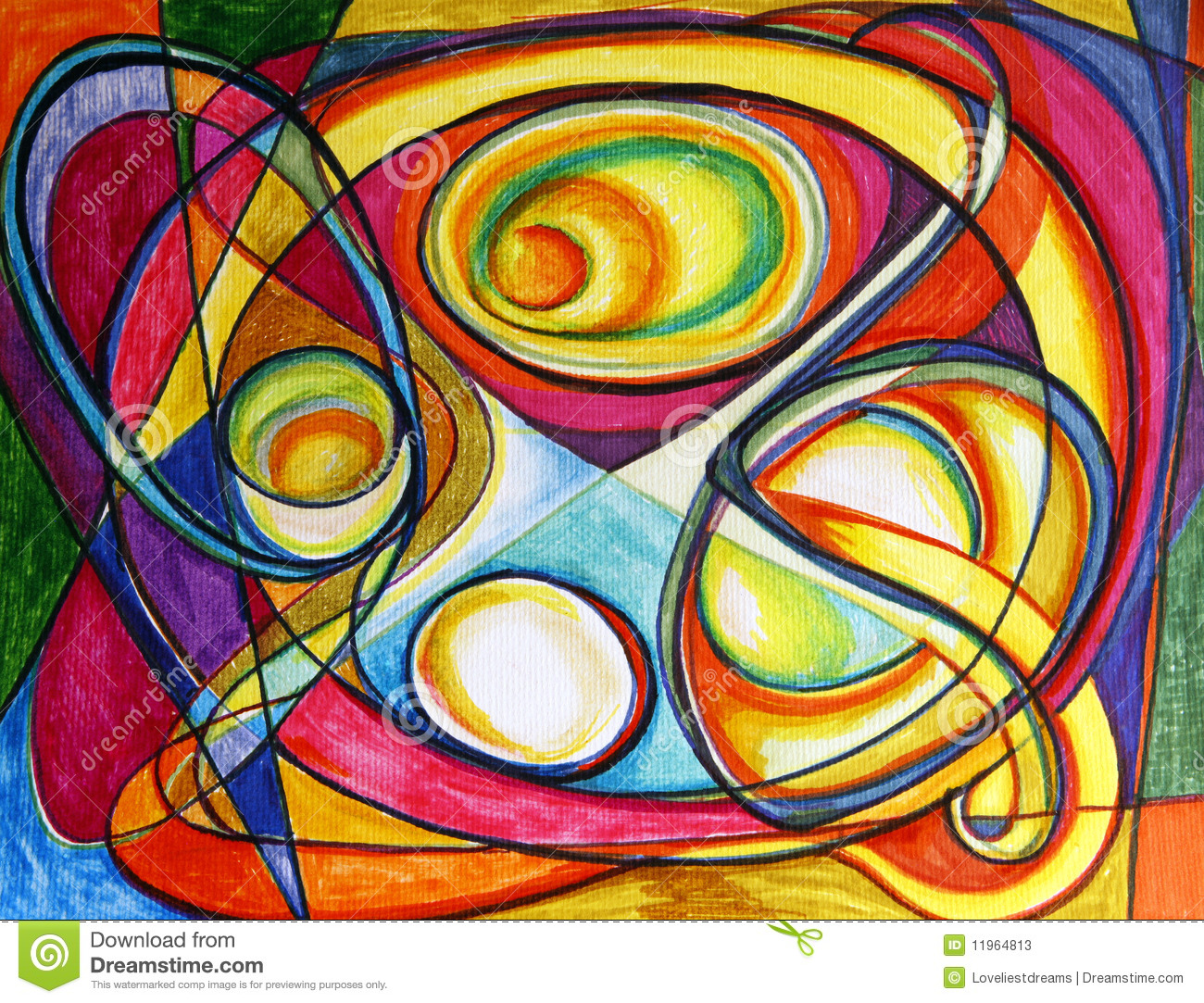 Abstract Colorful Drawing Stock Illustration Illustration